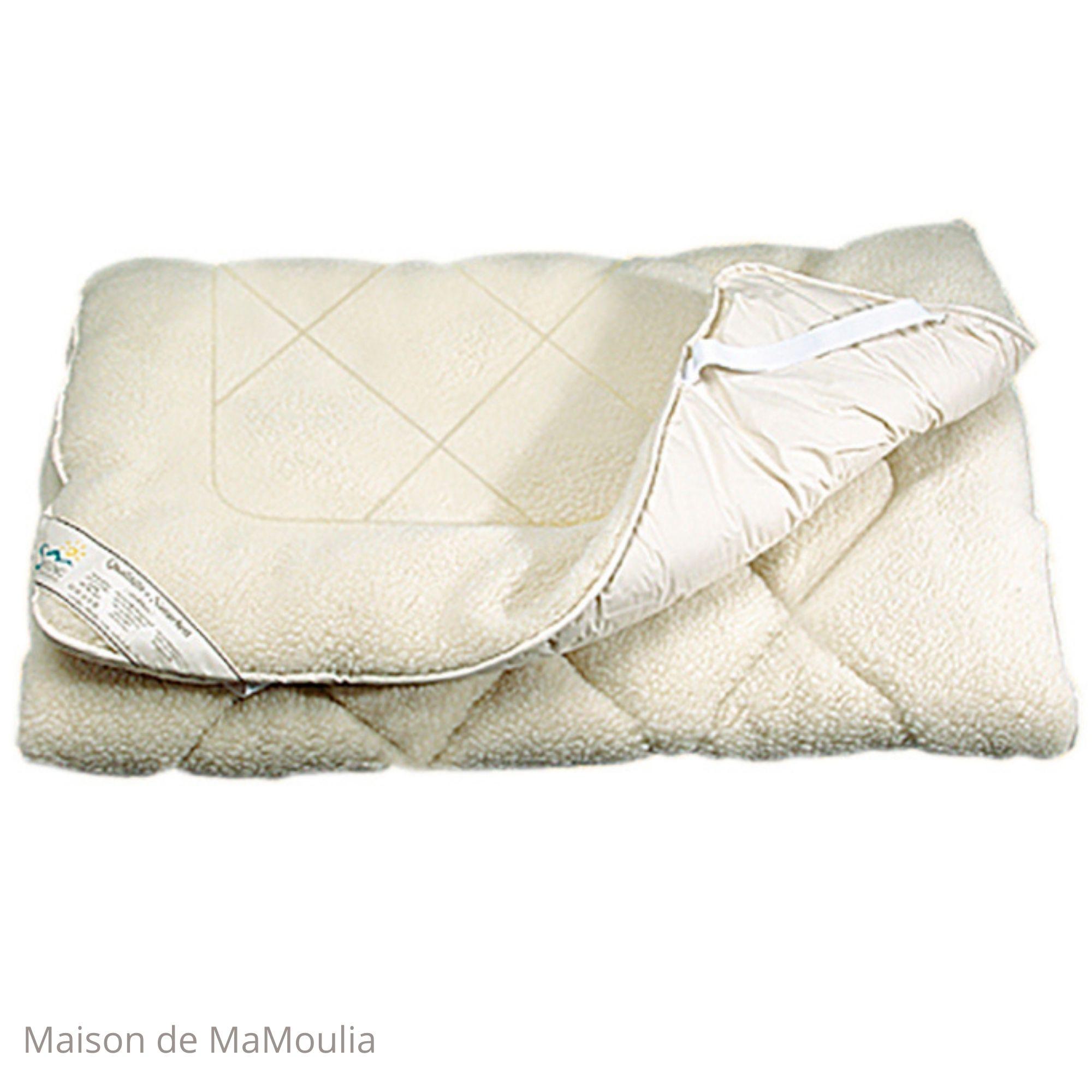 SALING - Sur-matelas double face - pure laine/coton bio -90x200cm