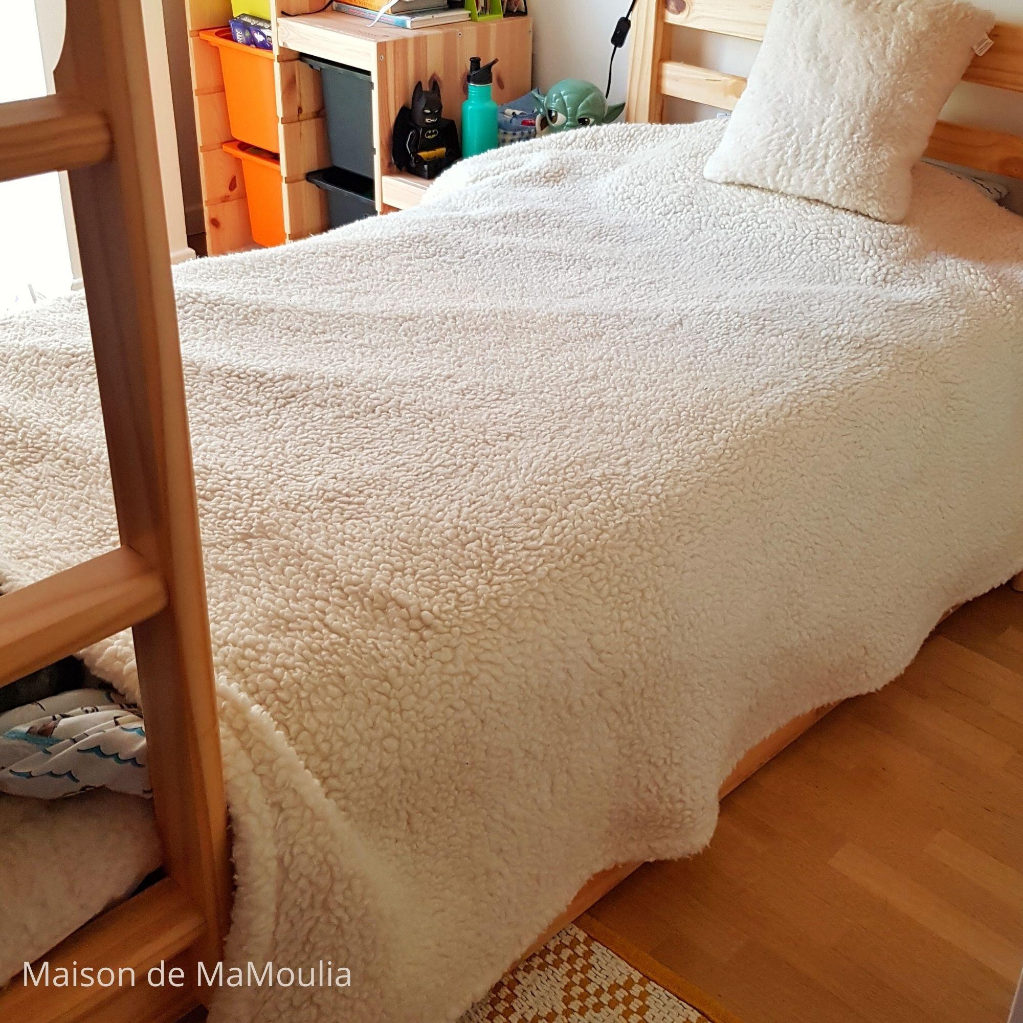 SALING - Grande couverture - pure laine - 150x190 cm