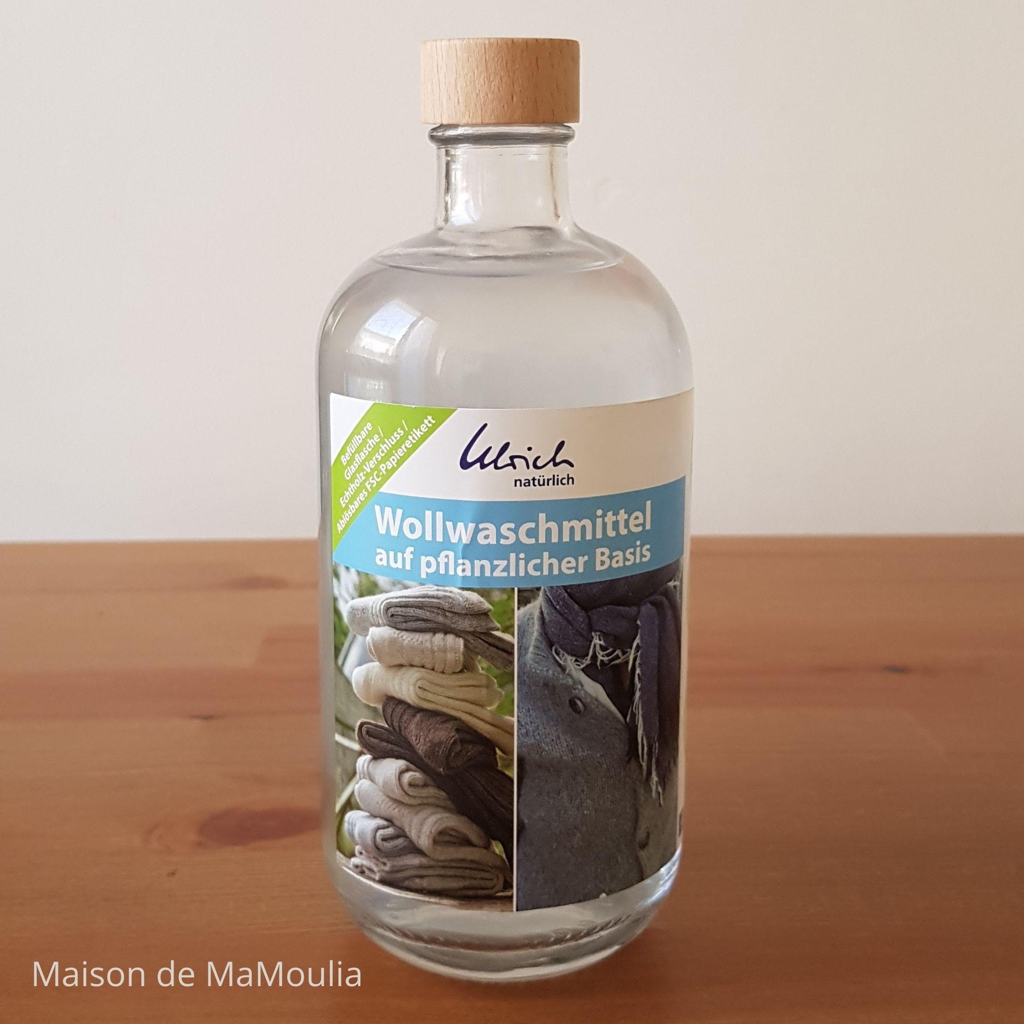ULRICH - LESSIVE spéciale laine - à base de plantes, 500 ml-Verre