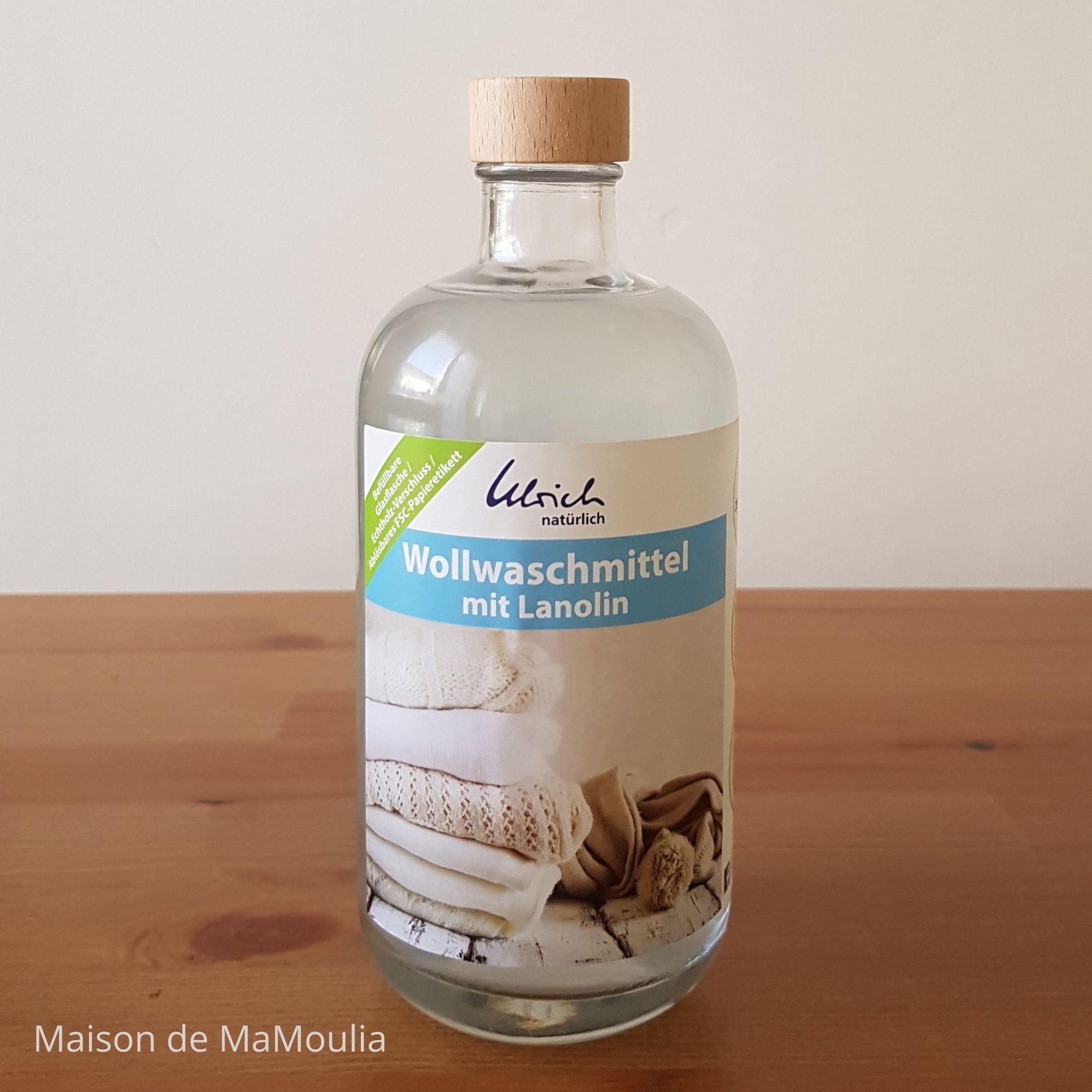 ULRICH - LESSIVE spéciale laine - avec lanoline, 500 ml - Verre