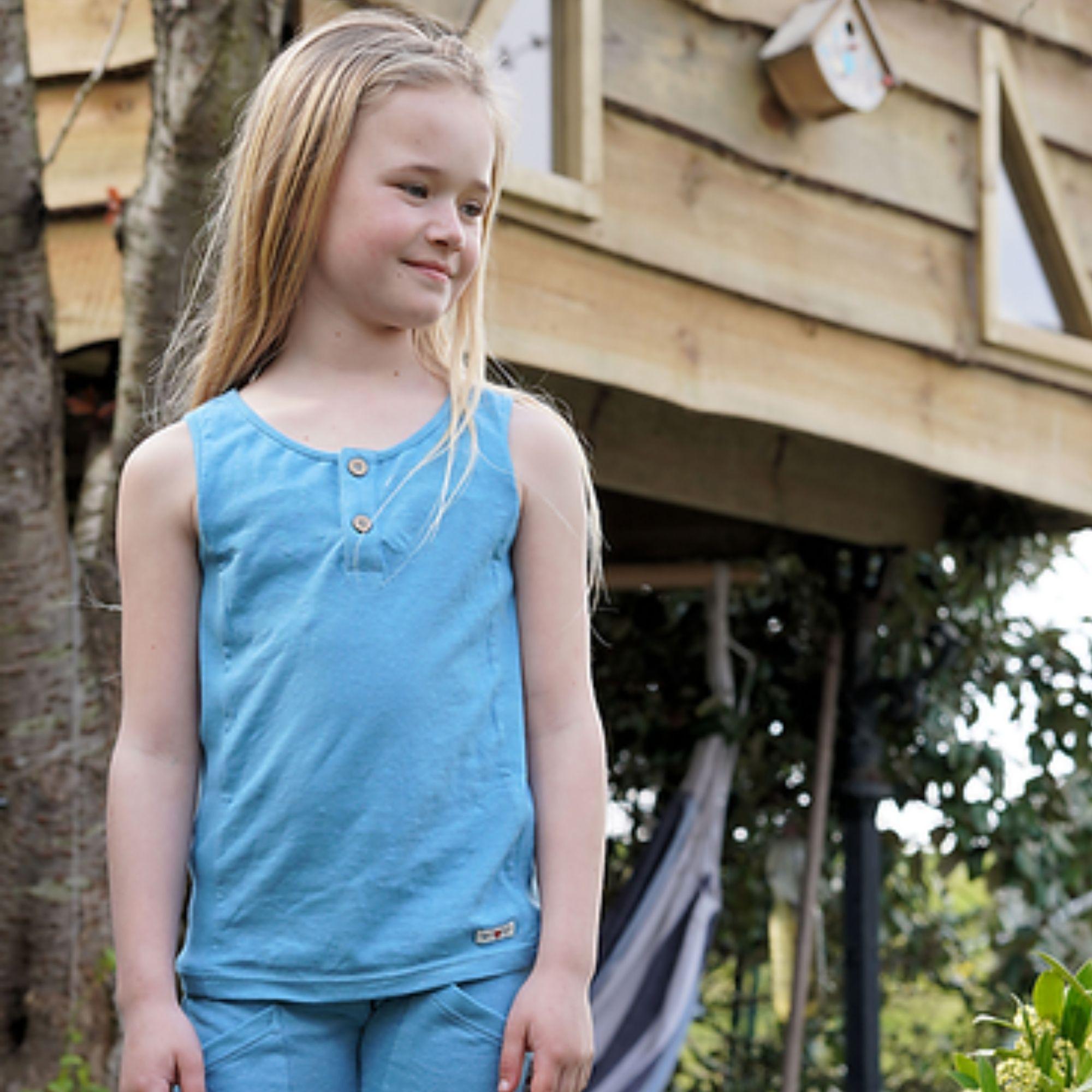 MANYMONTHS Eco - T-shirt Évolutif - Sans manches - Milky blue