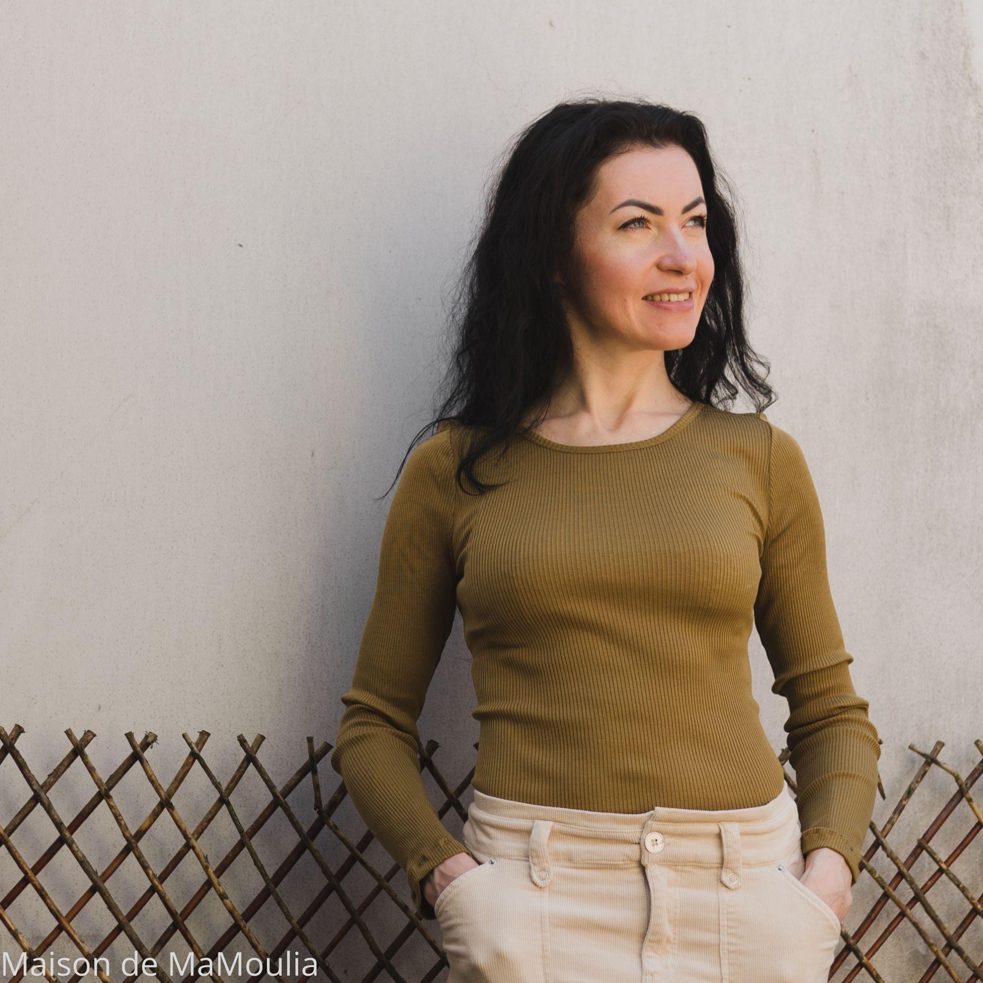 minimalisma-Gerda-Seaweed-tshirt-femme-soie-coton-maison-de-mamoulia-vert-manches-longues