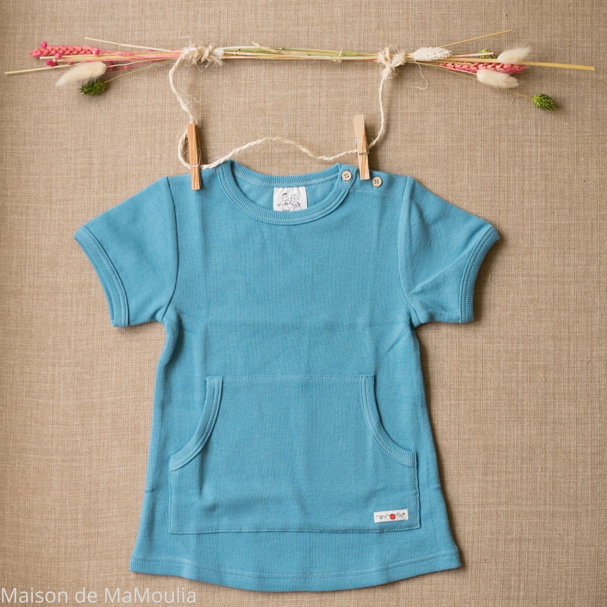 MANYMONTHS Eco - T-shirt Évolutif - Manches courtes - Milky blue