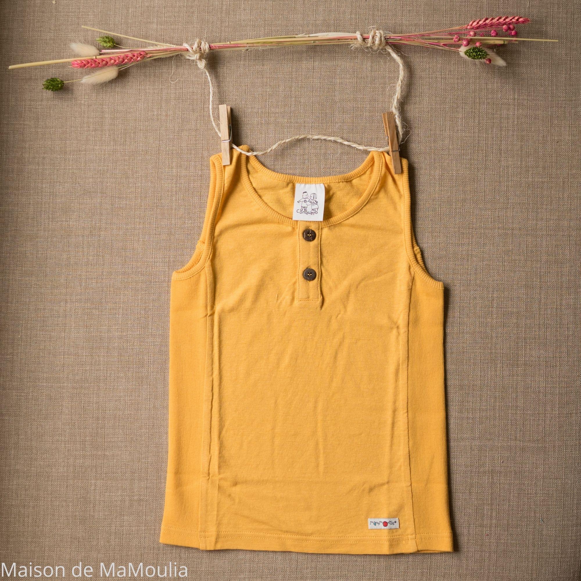 MANYMONTHS Eco - T-shirt Évolutif - Sans manches - Iced mango
