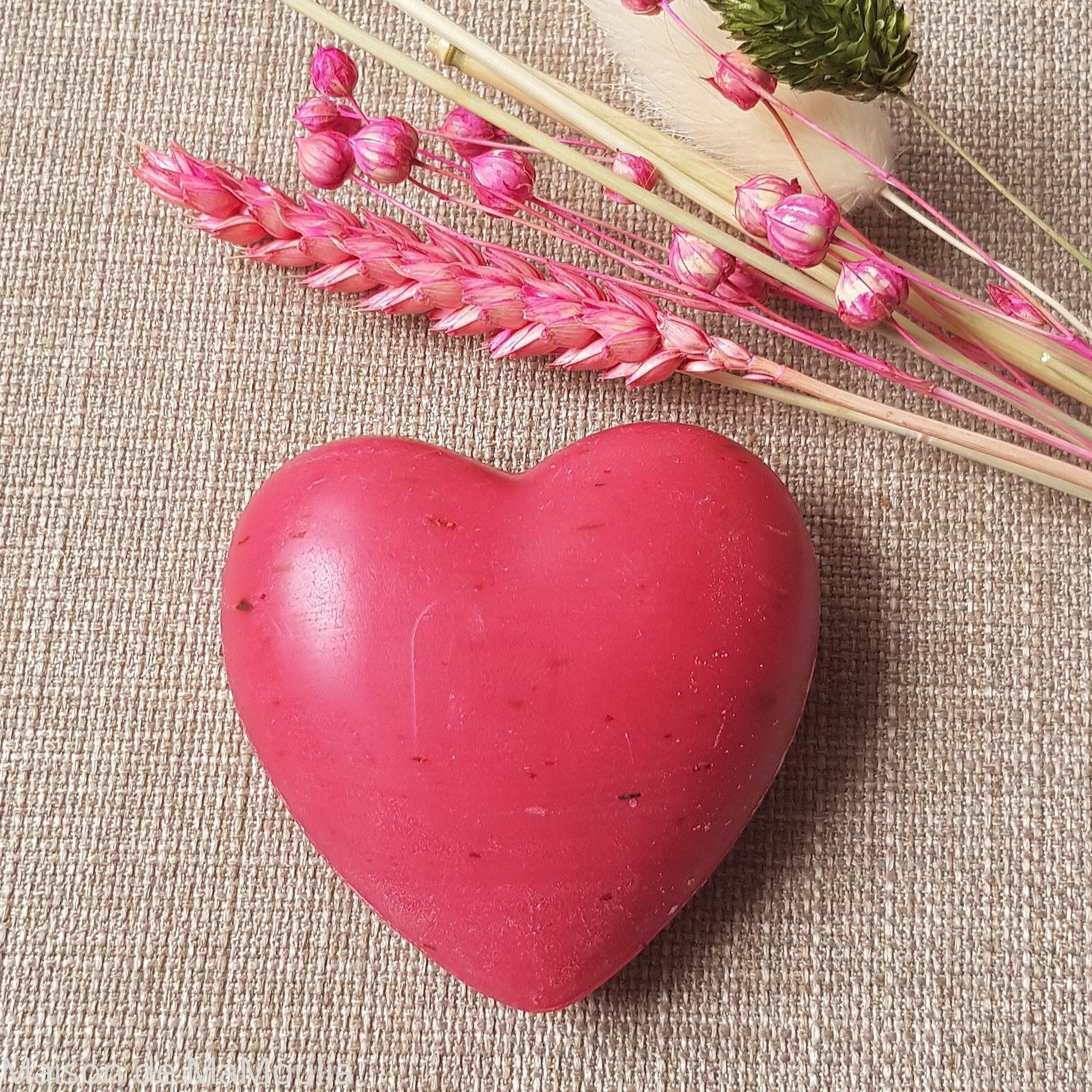 SALING - Savon au lait de brebis, Coeur rouge