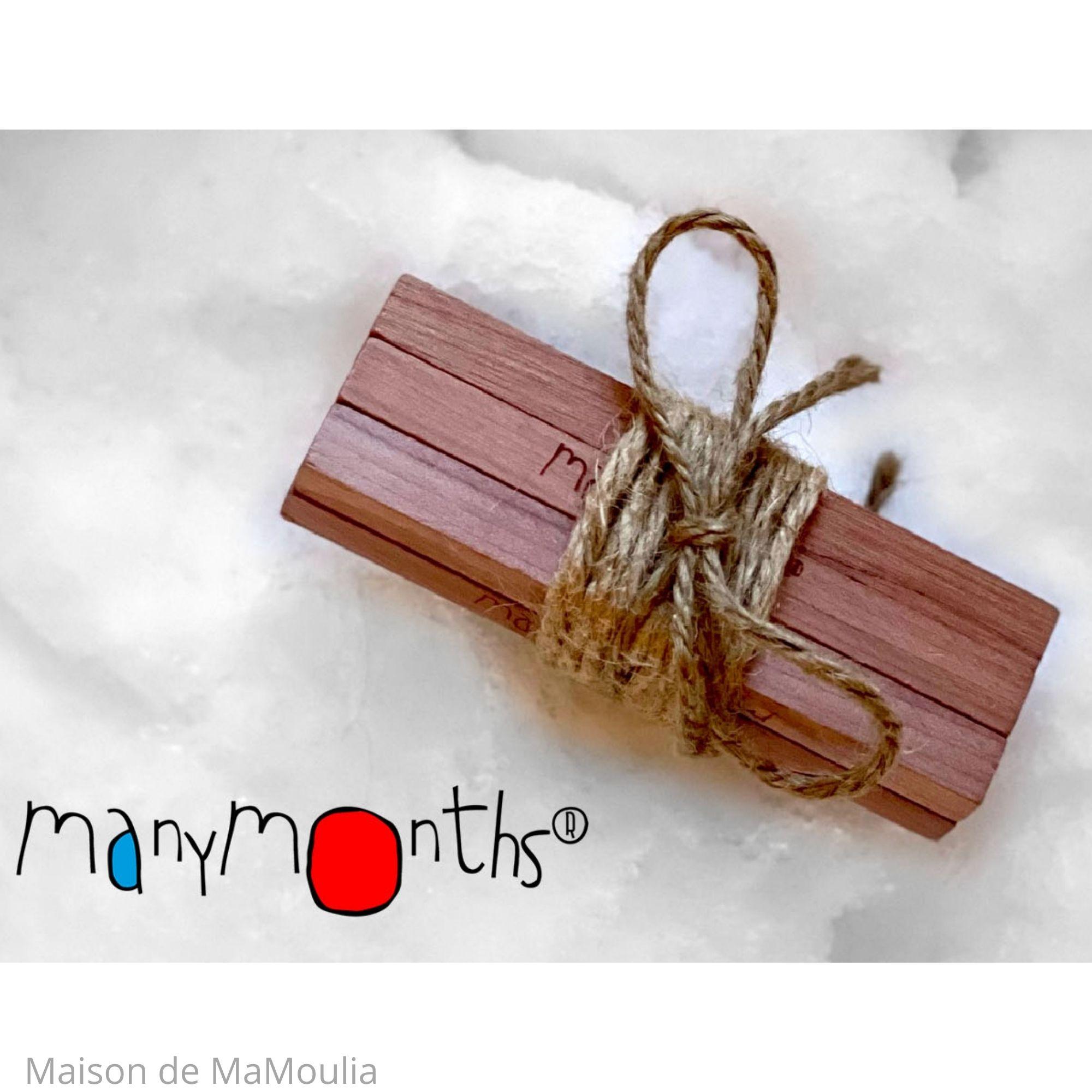 MANYMONTHS - Bois de cèdre - Laine mérinos - 10 pcs