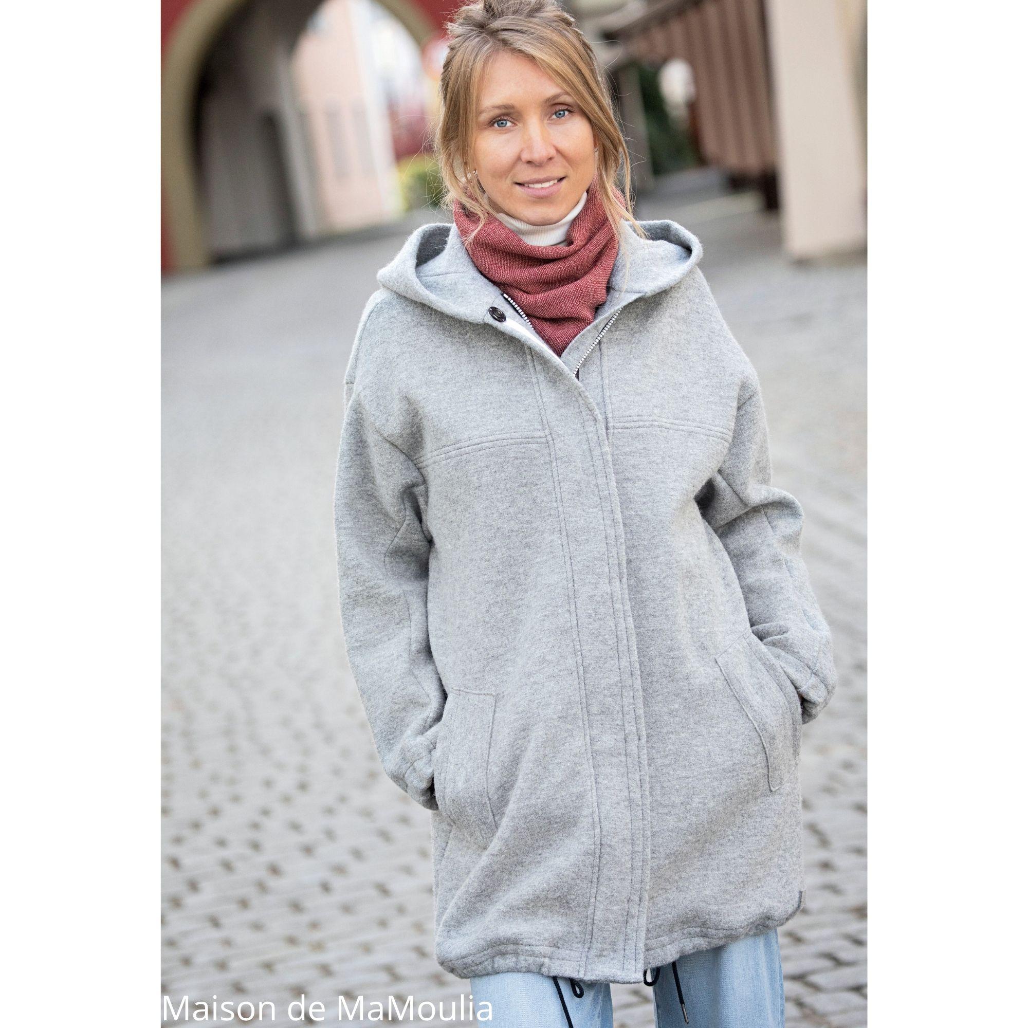 Disana - Manteau femme en laine bouillie - Couleurs différentes