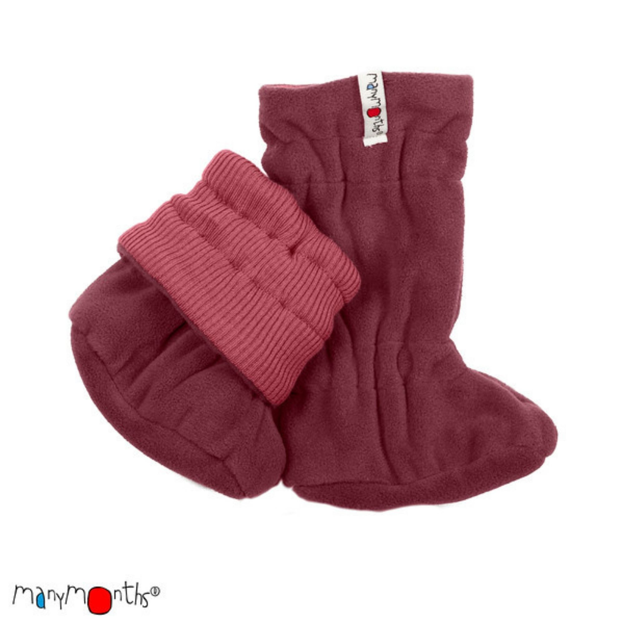 MANYMONTHS - Chaussons booties réversibles - Laine/Polaire