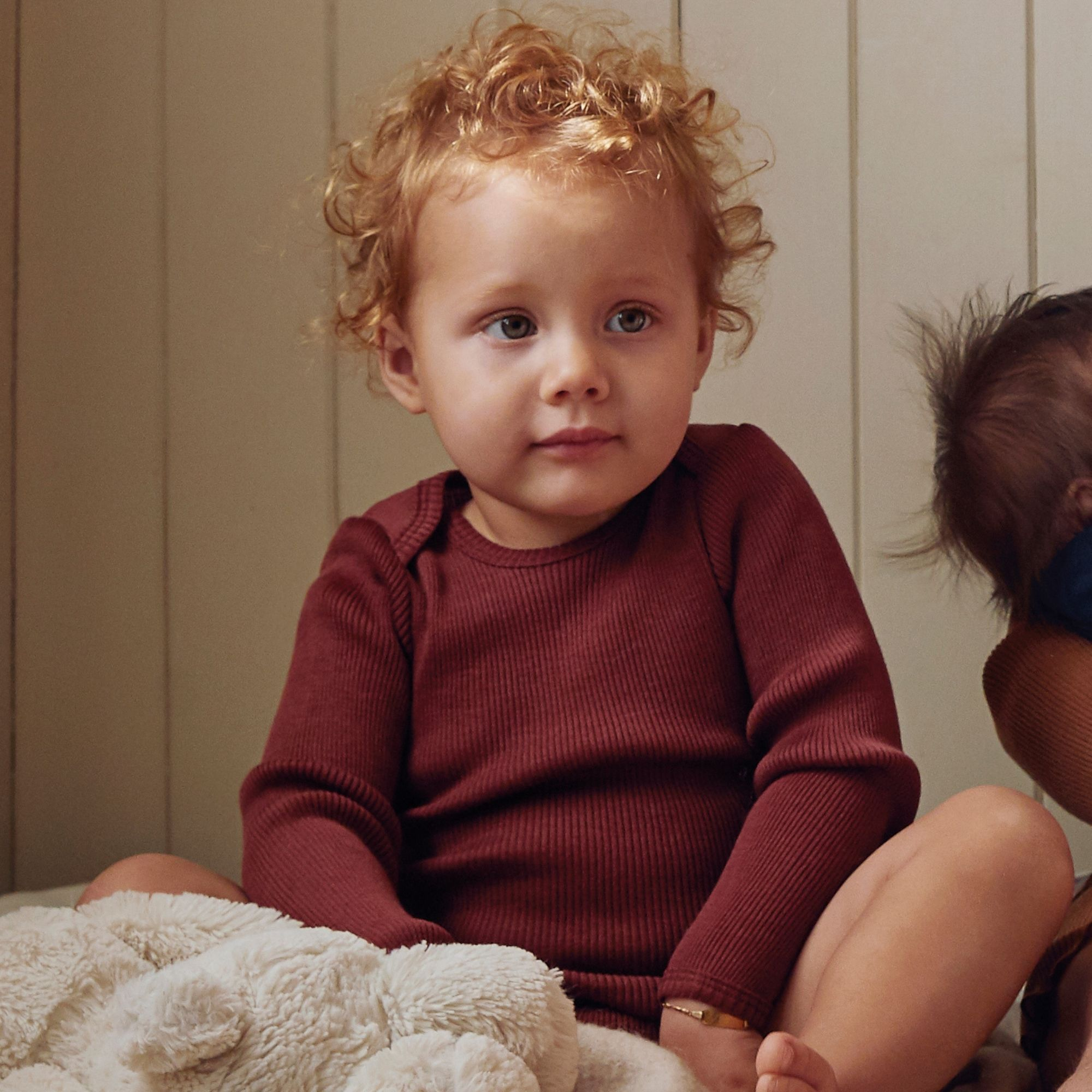 MINIMALISMA - Body bébé - 100 % laine mérinos - Rhubarbe