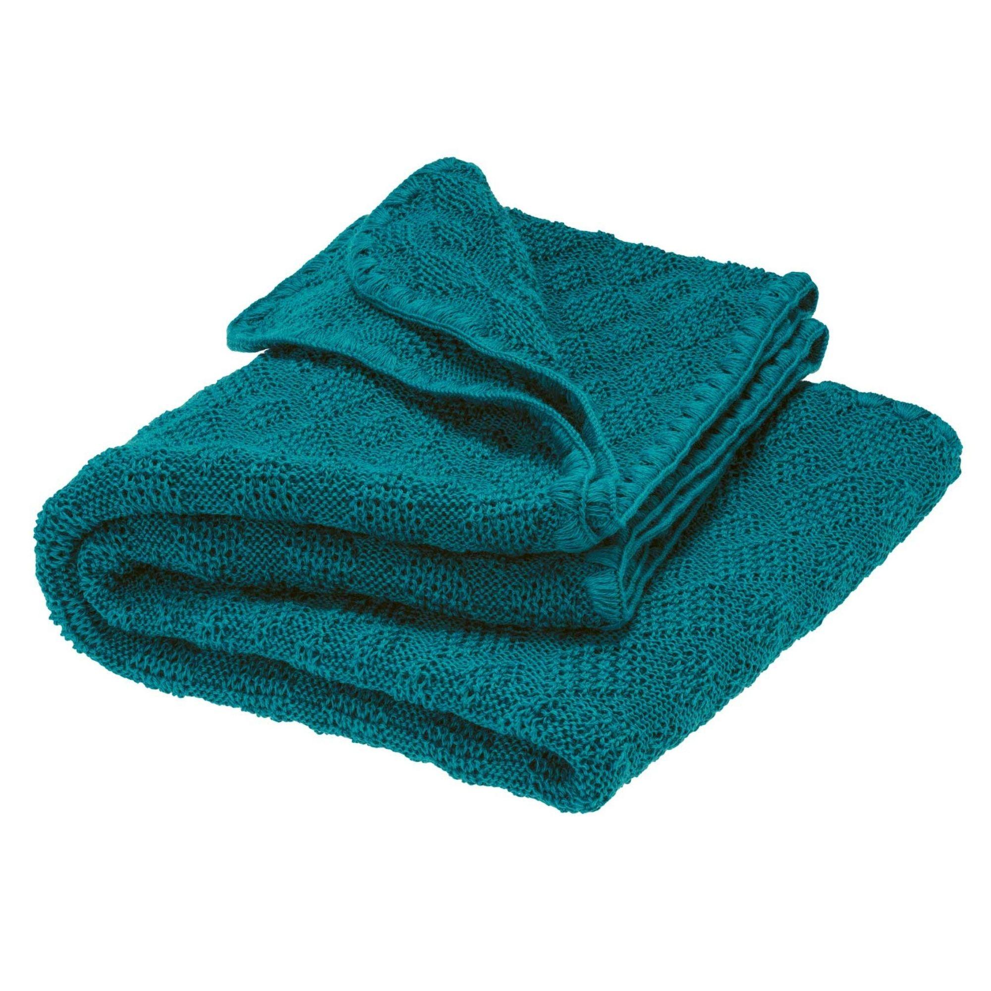 DISANA - Couverture tricotée - Laine mérinos - PACIFIC - ORIGINALE
