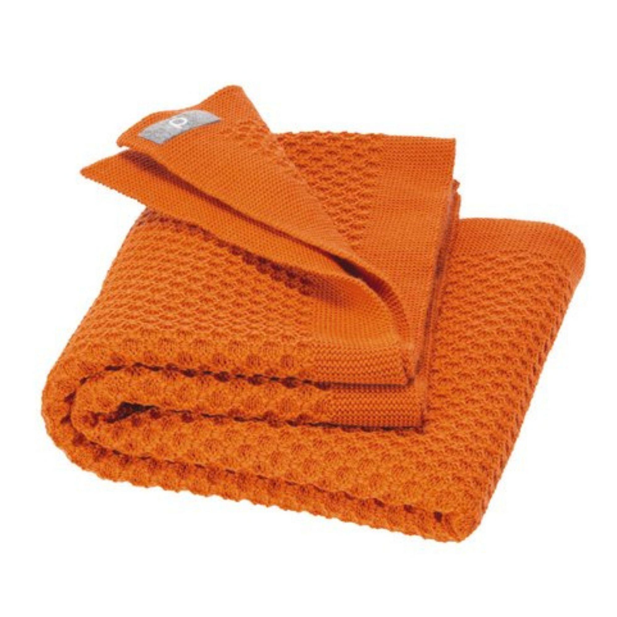 couverture-bebe-enfant-pure-laine-merinos-bio-tricotee-disana-maison-de-mamoulia-honeycomb-nid-abeille-orange