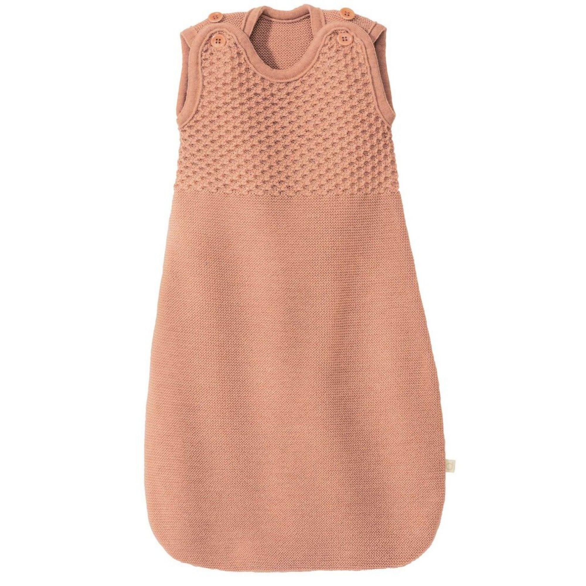 DISANA - Gigoteuse tricotée - Laine mérinos - ROSE