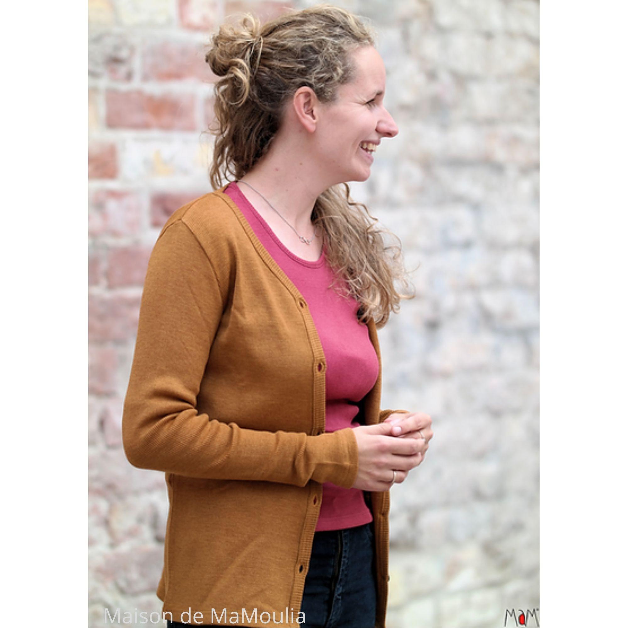 MAM - Gilet cardigan pour femme et ados - laine mérinos