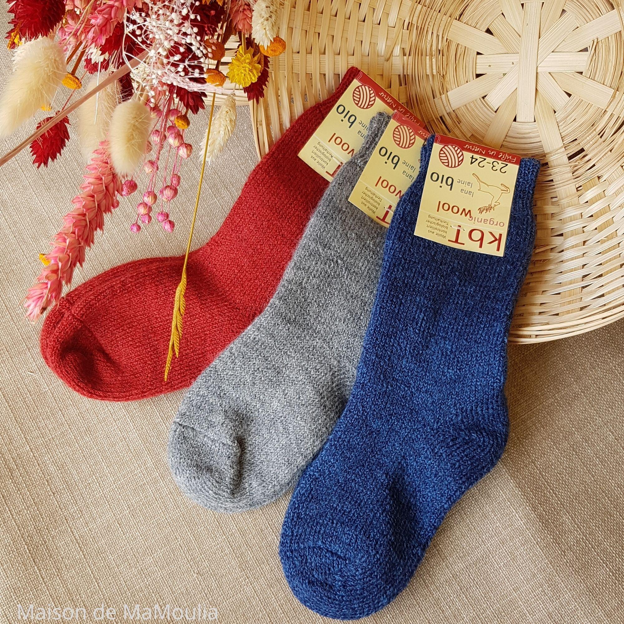 Chaussettes très épaisses - 100% laine - Enfant
