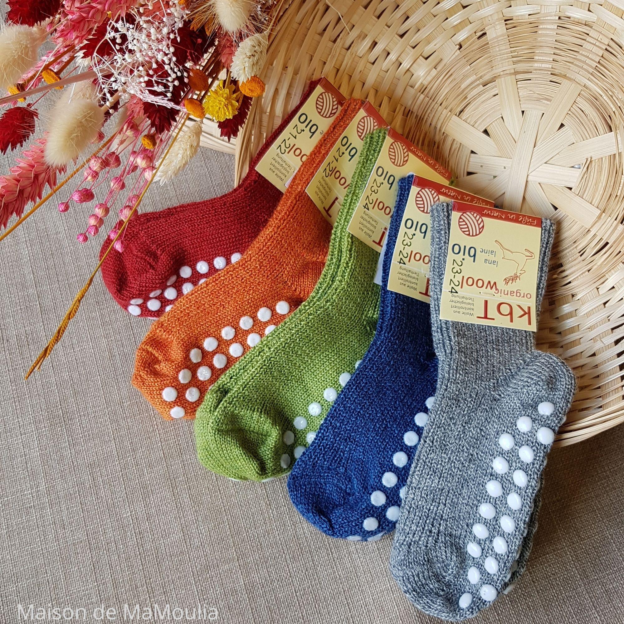 HIRSCH Natur - Chaussettes antidérapantes - 100% laine - Enfant
