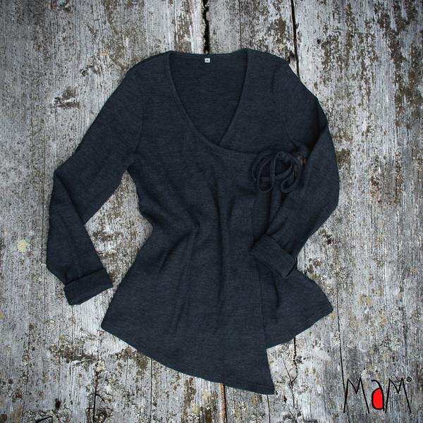 MAM - Wrap Cardigan - 100% laine méinos