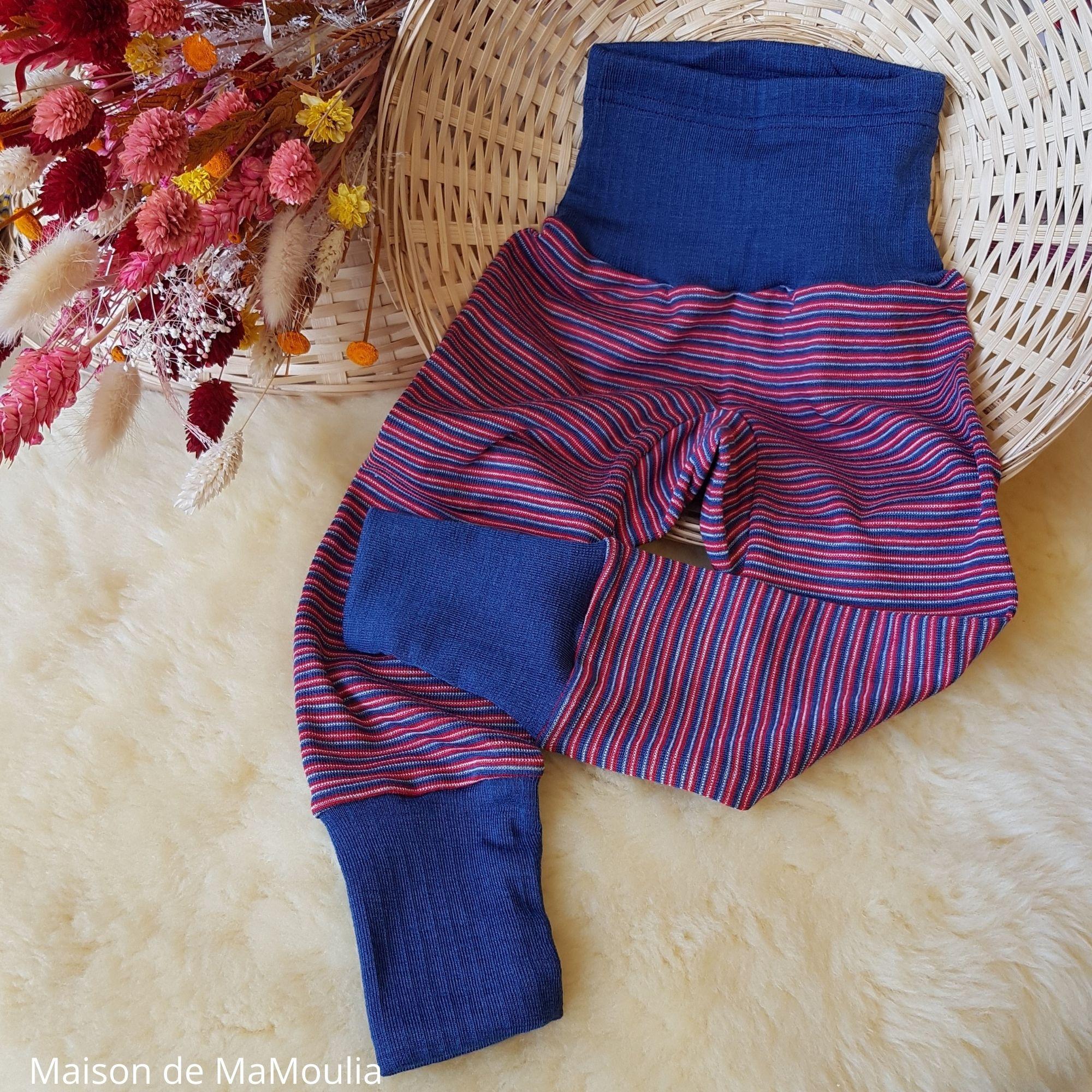 pantalon-taille-large-cosilana-laine-soie-bio-bebe-enfant-maison-de-mamoulia-rayures-rouge-bleu-