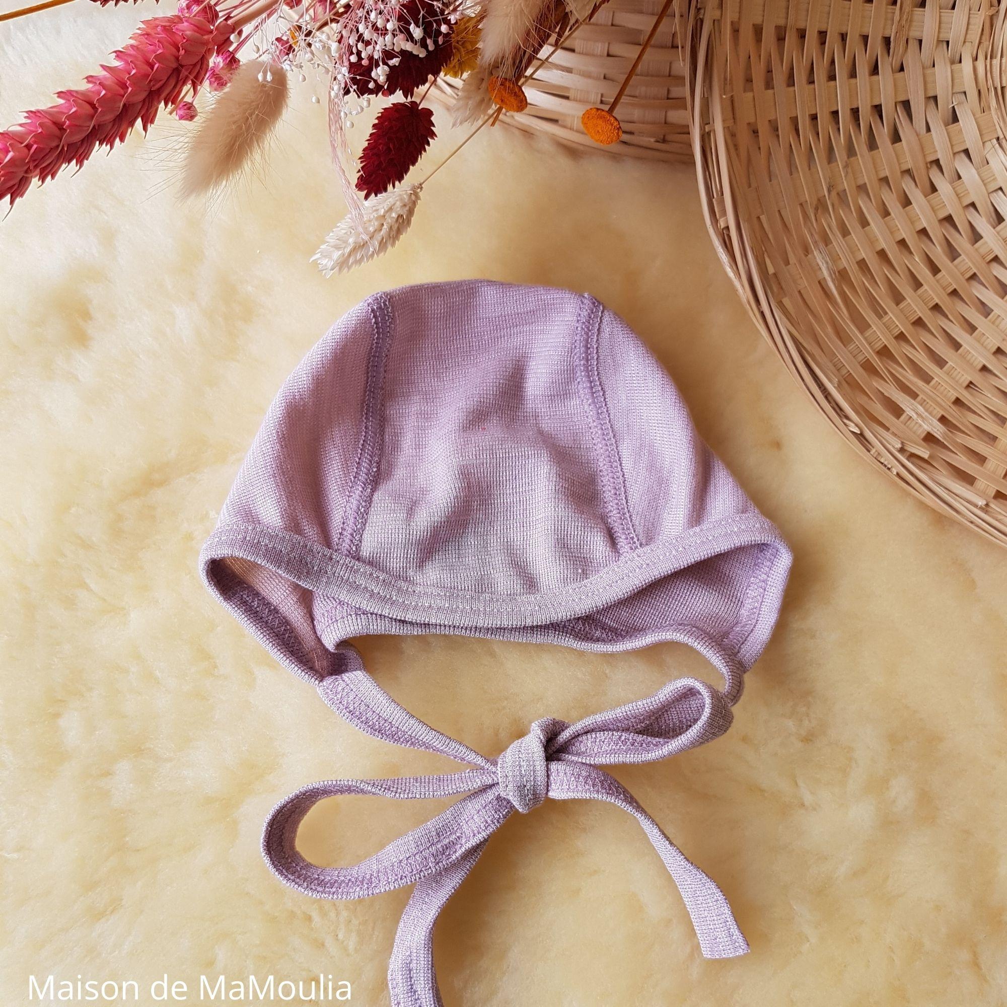 COSILANA - Bonnet pour bébé - Laine-soie, Rose
