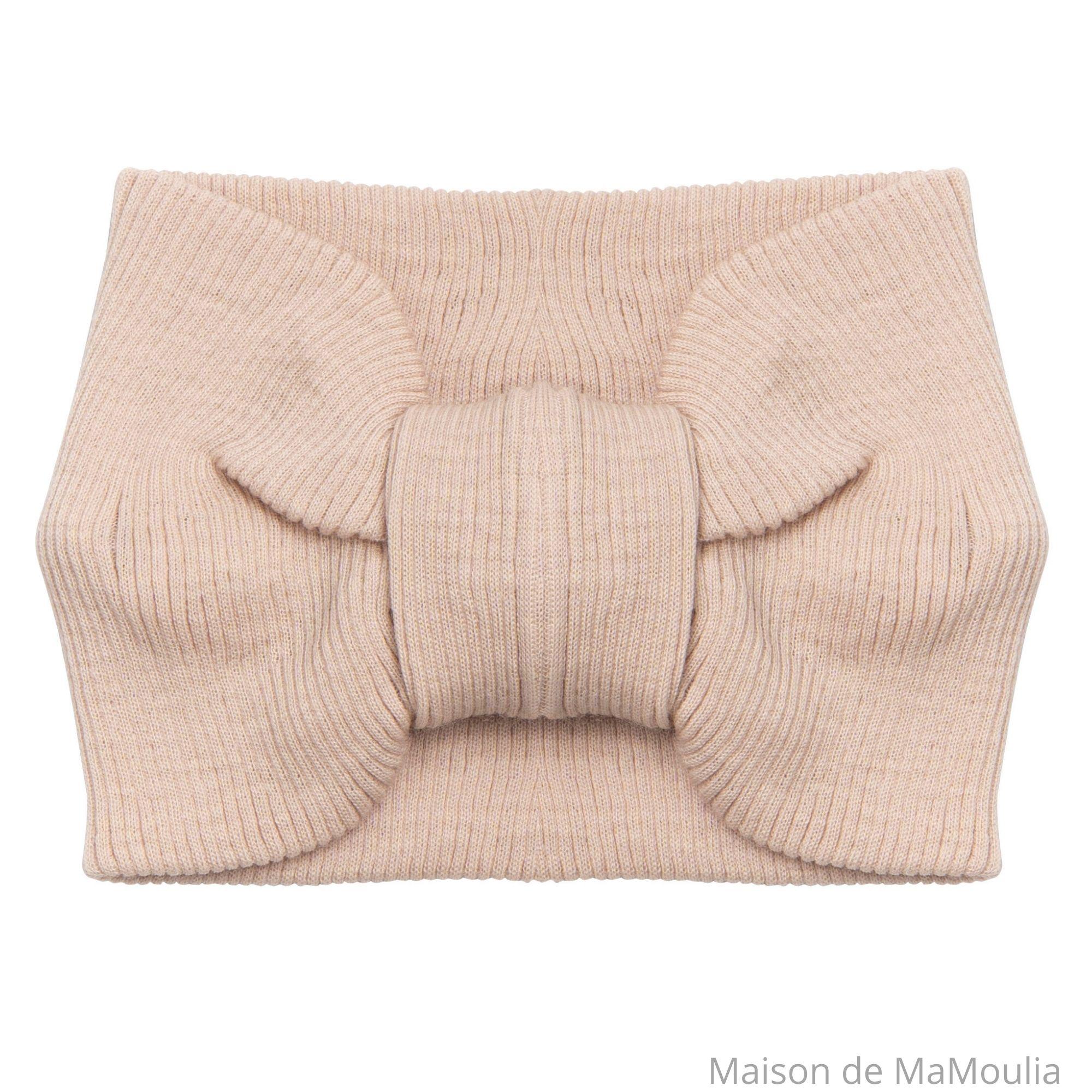 MINIMALISMA - Bandeau pour femme - 100% laine mérinos - Sable