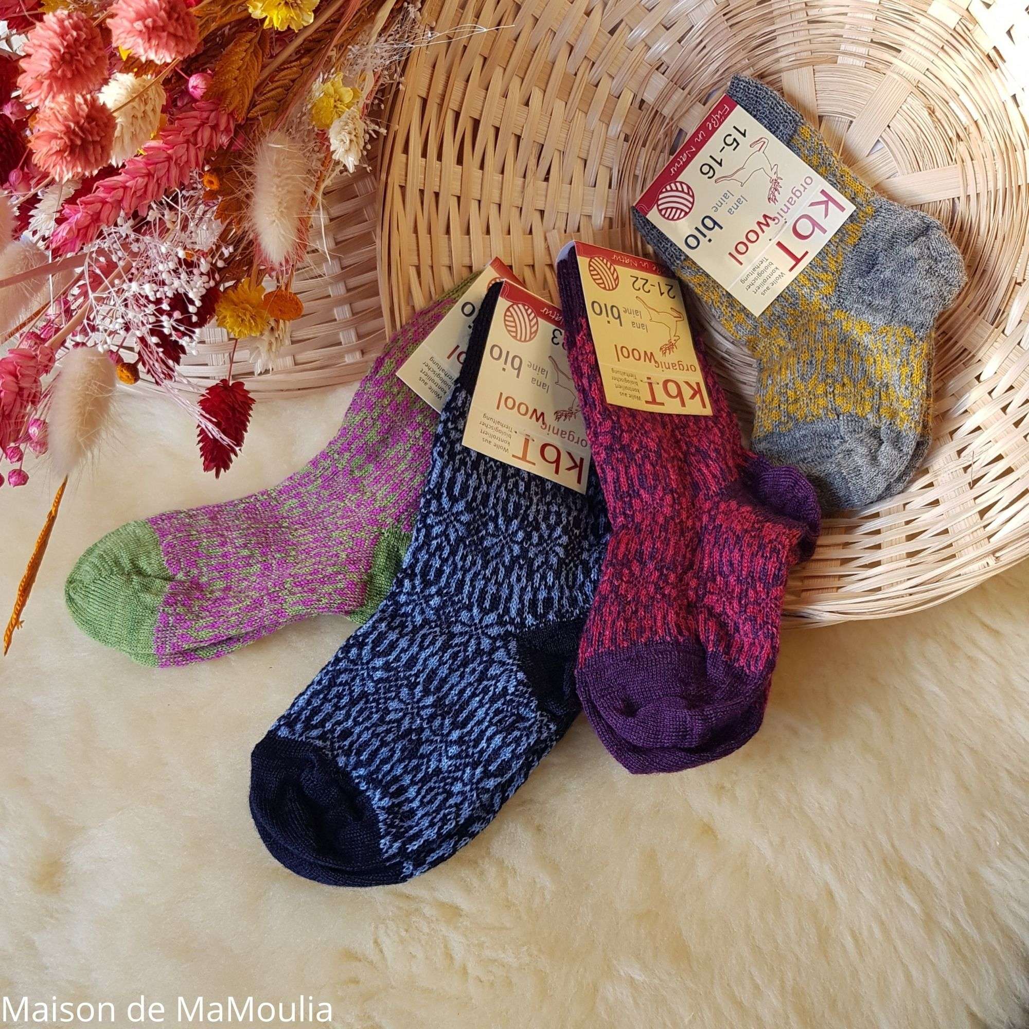 HIRSCH Natur - Chaussettes fines - 100% laine - Enfant