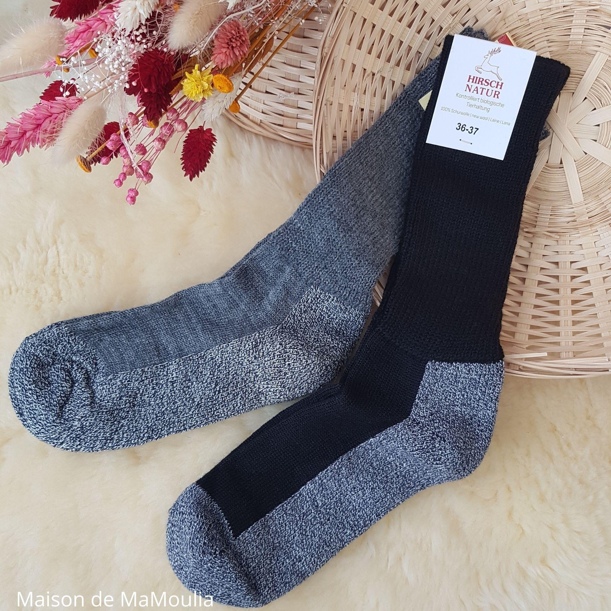HIRSCH Natur - Chaussettes mi-épaisses - 100% laine - Renforcées