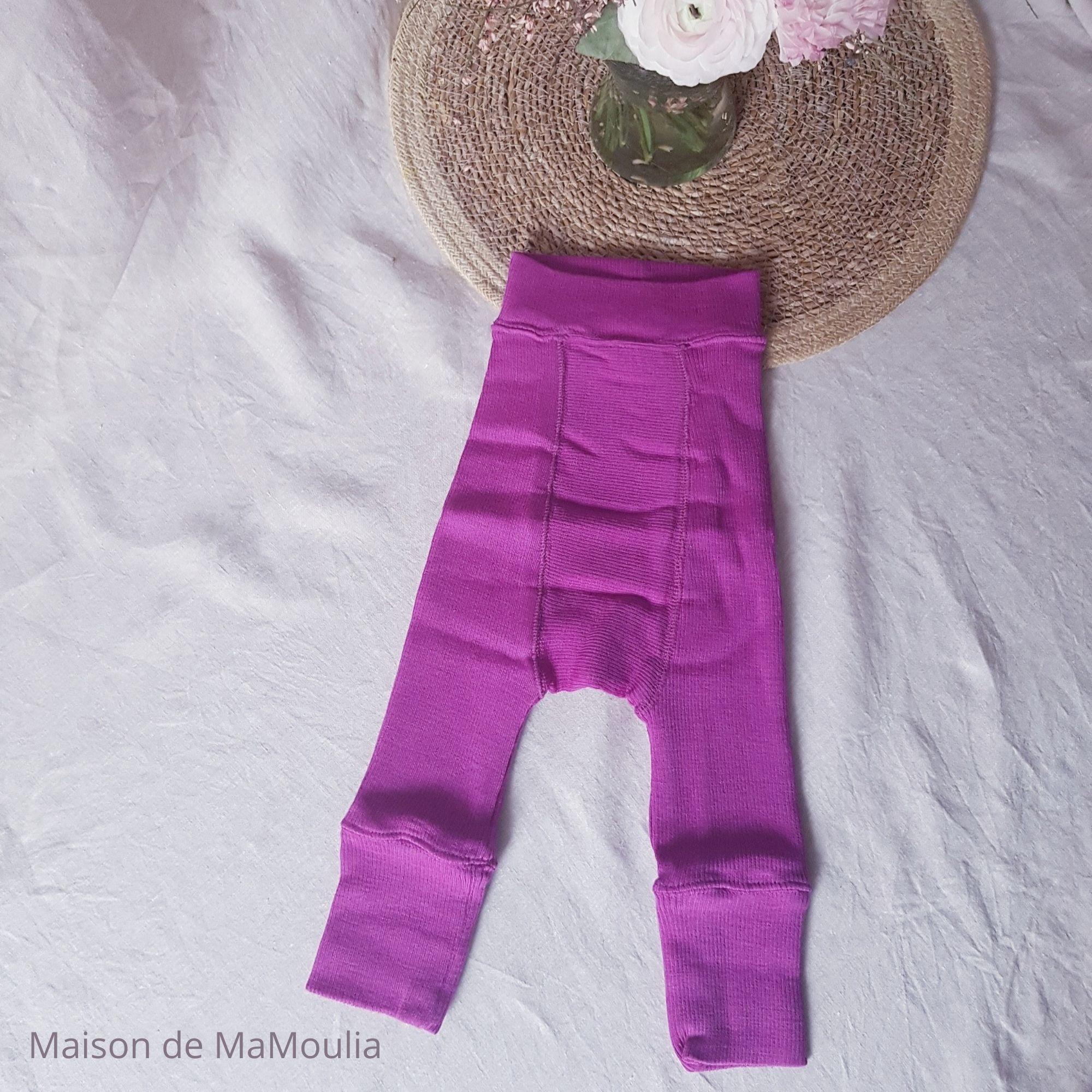 MANYMONTHS - LONGIES Pantalon Évolutif - 100% laine mérinos - LOTUS