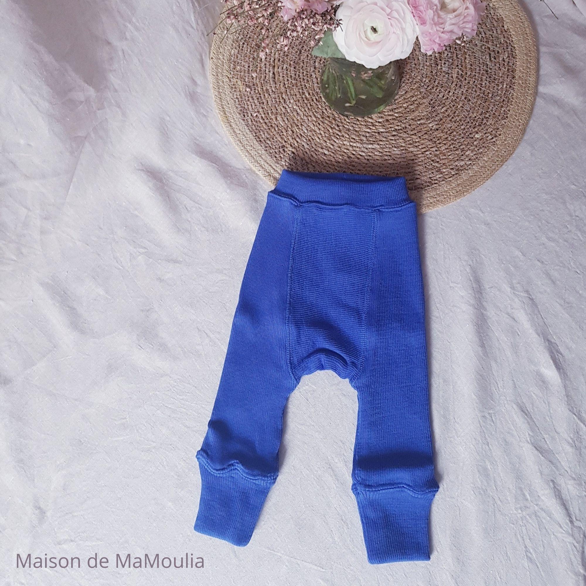 MANYMONTHS - LONGIES Pantalon Évolutif - 100% laine mérinos - Réversible - JEWEL/SILVER