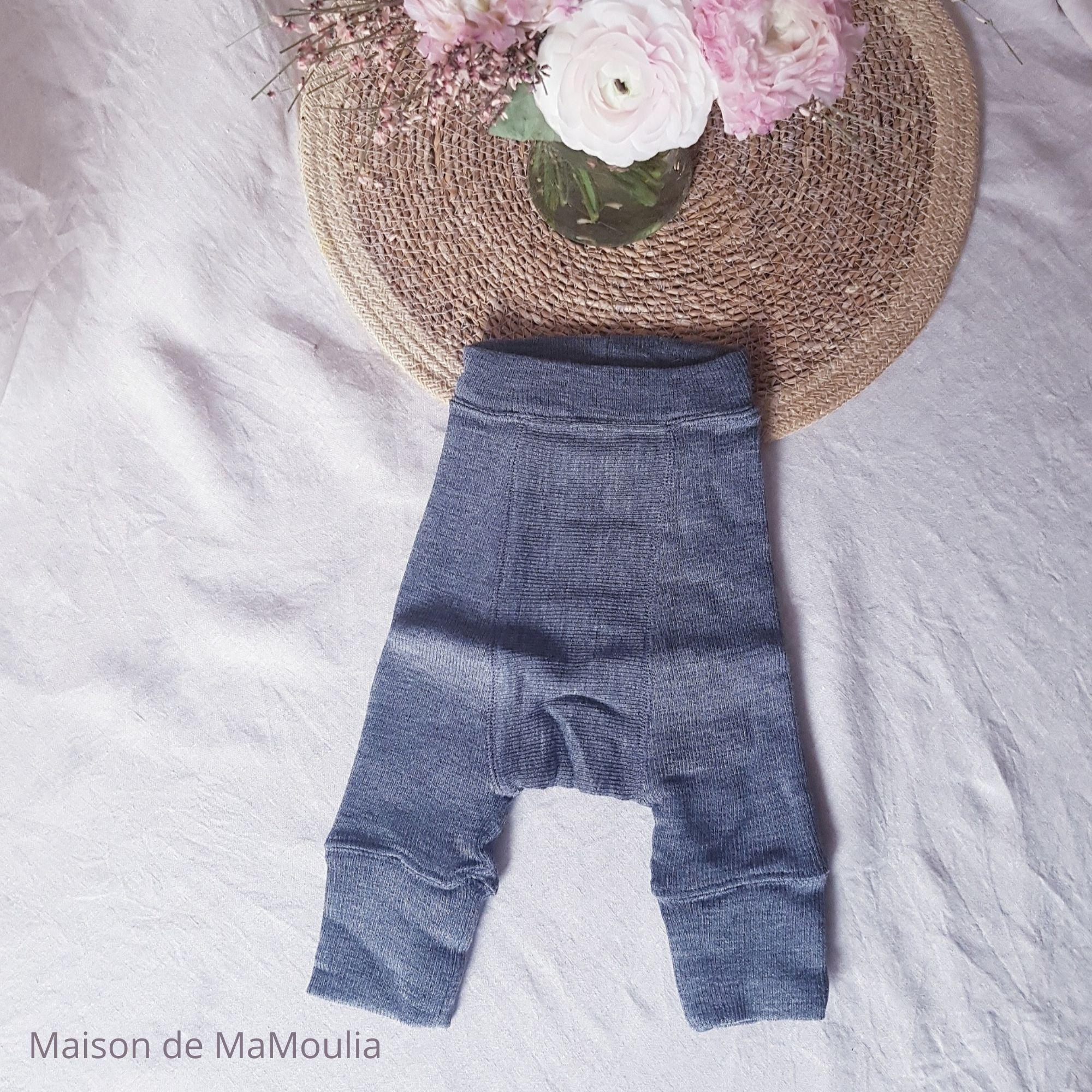 MANYMONTHS - LONGIES Pantalon Évolutif - 100% laine mérinos - SILVER GREY