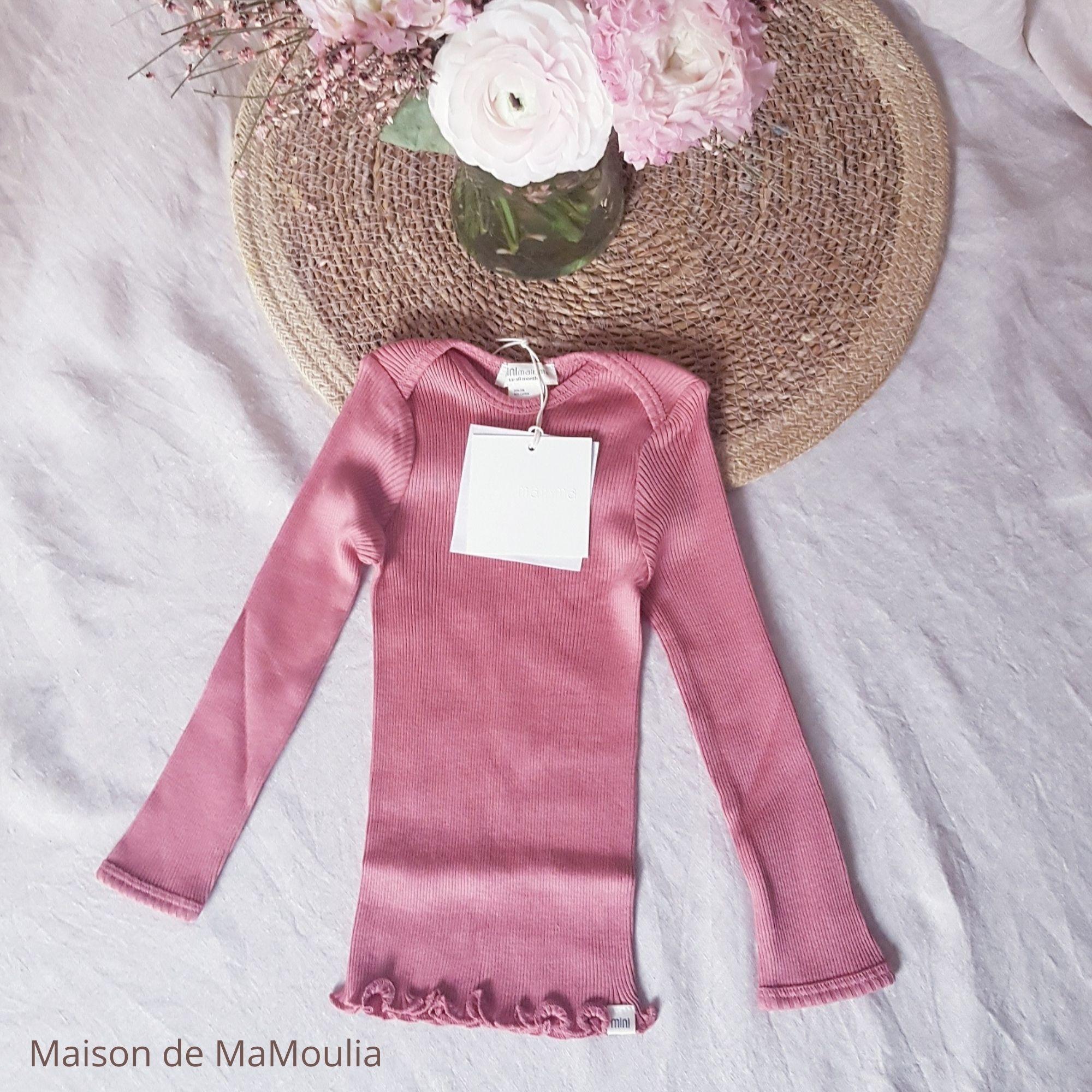 MINIMALISMA - T-shirt bébé - Soie 70% / coton 30% - Belfast - Antique red