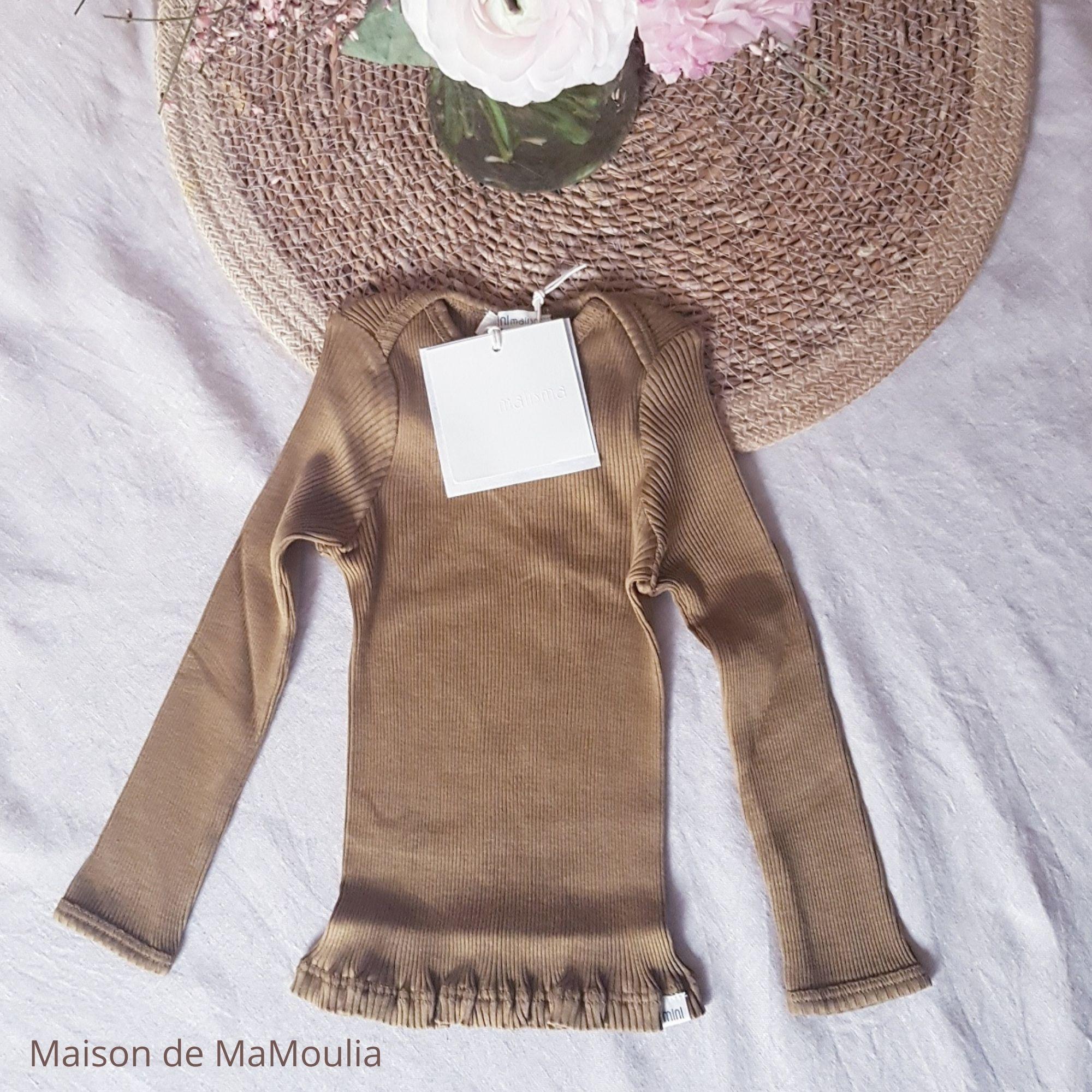 MINIMALISMA - T-shirt bébé - Soie 70% / coton 30% - Belfast - Seaweed