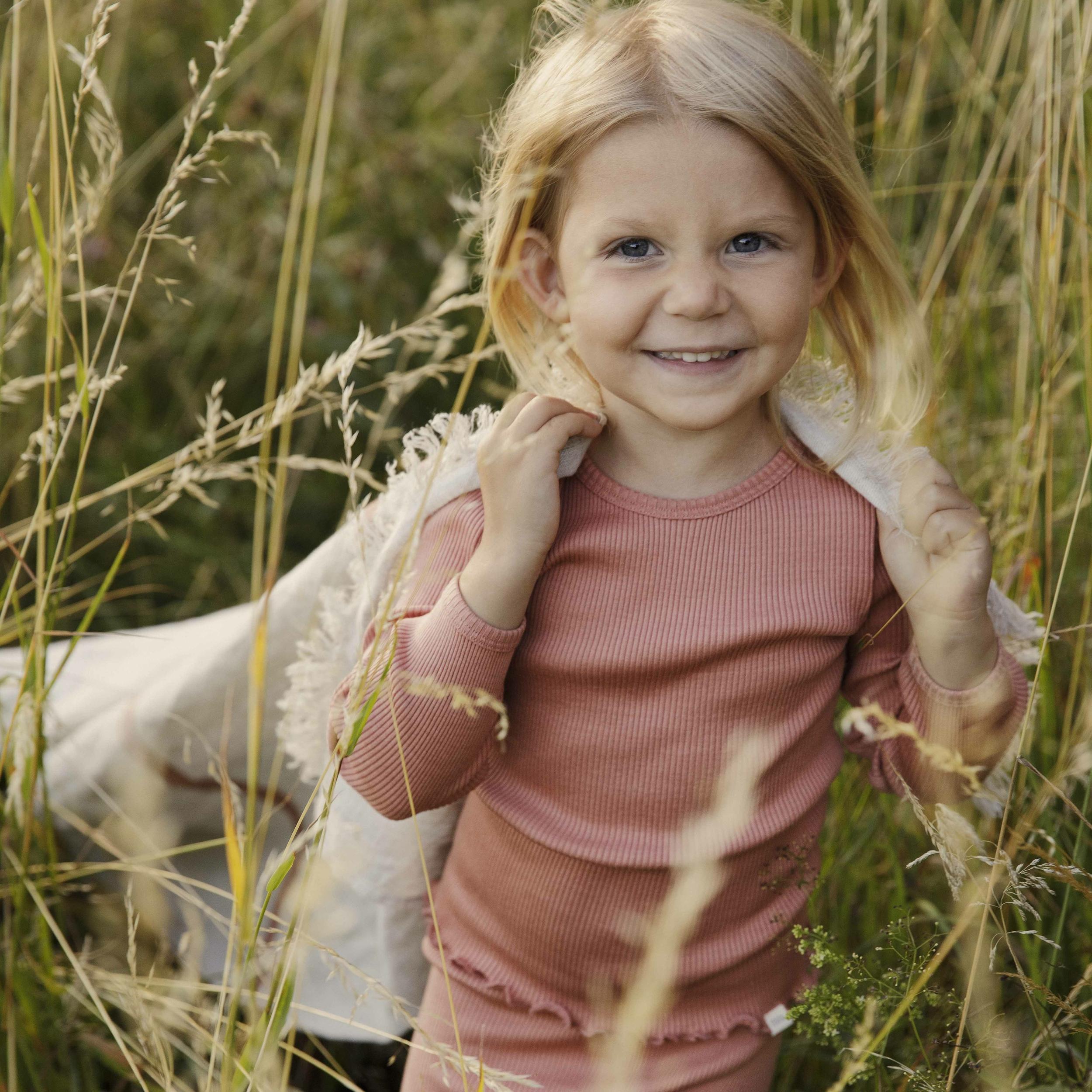 MINIMALISMA - T-shirt enfant - Soie 70%/coton 30% - Bergen - Tan