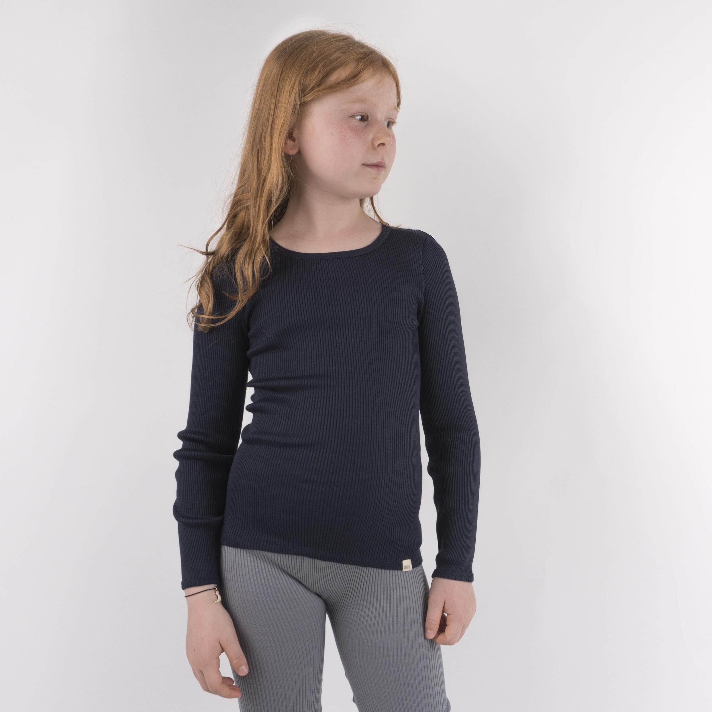 MINIMALISMA - T-shirt enfant - Soie 70% /coton 30% - Bergen -Bleu