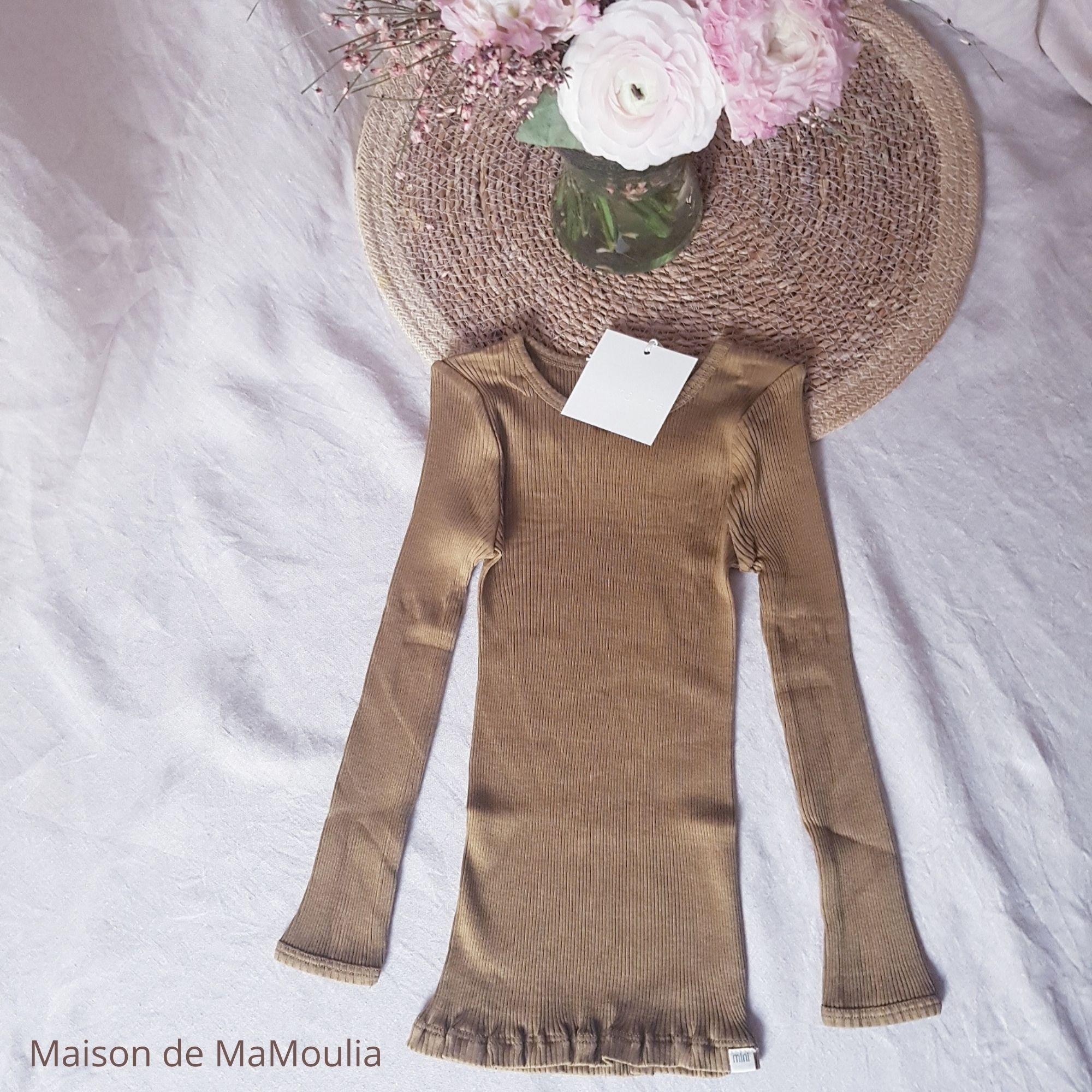 MINIMALISMA - T-shirt enfant - Soie 70% / coton 30% - Bergen - Seaweed