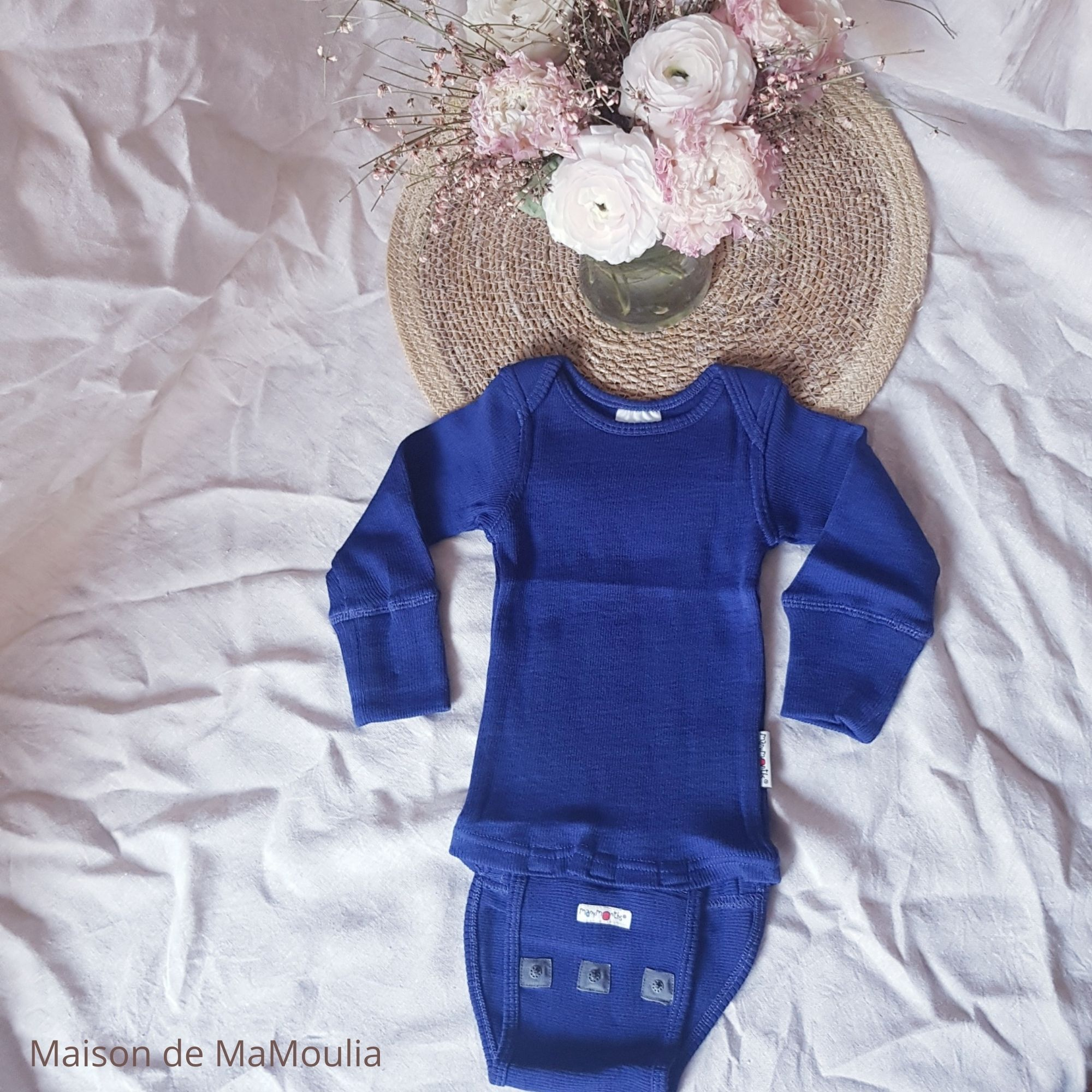 MANYMONTHS - BODY/SHIRT Évolutif - 100% Laine mérinos - NIGHT SKY