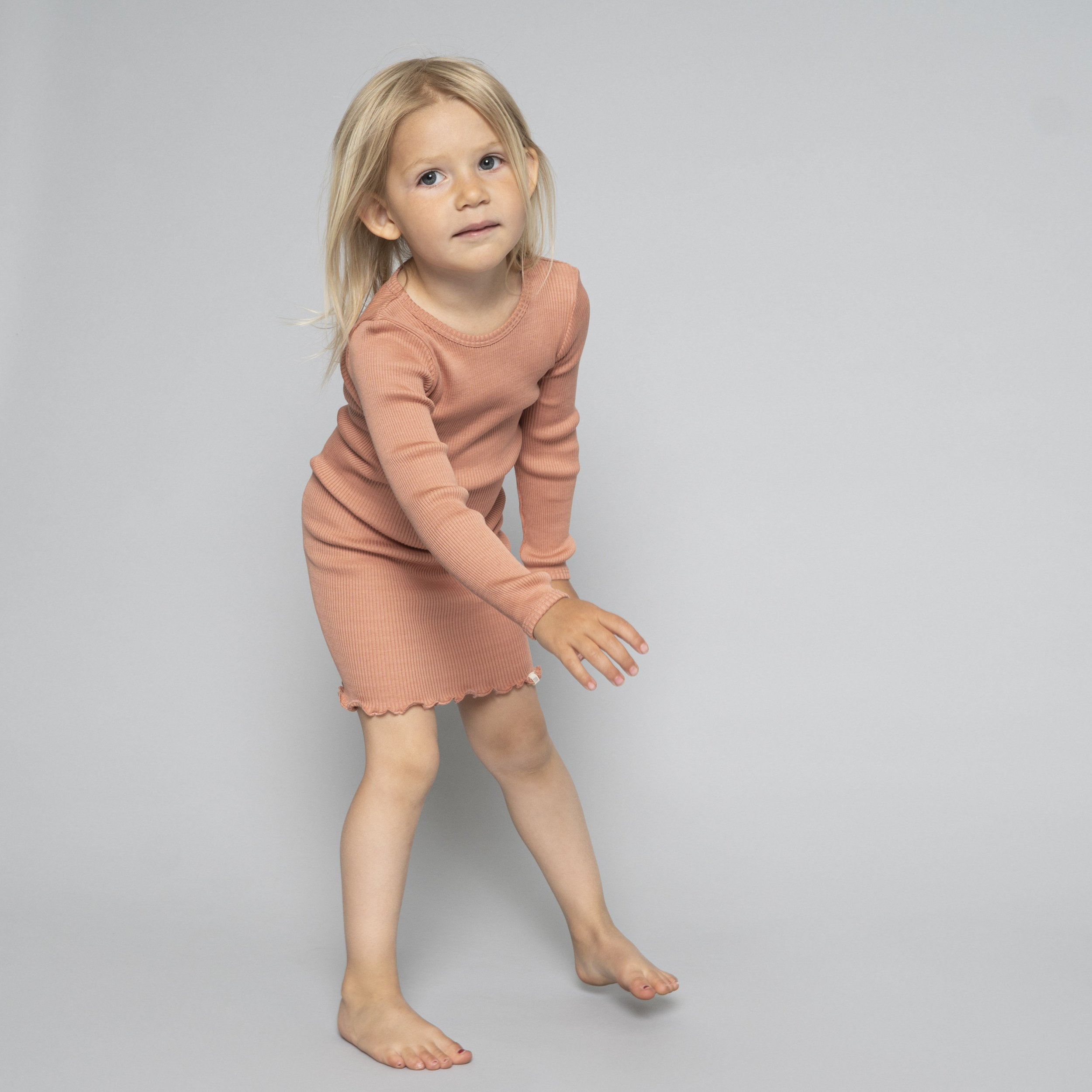 MINIMALISMA - Robe enfant - Soie 70% / coton 30% - Bina - Tan