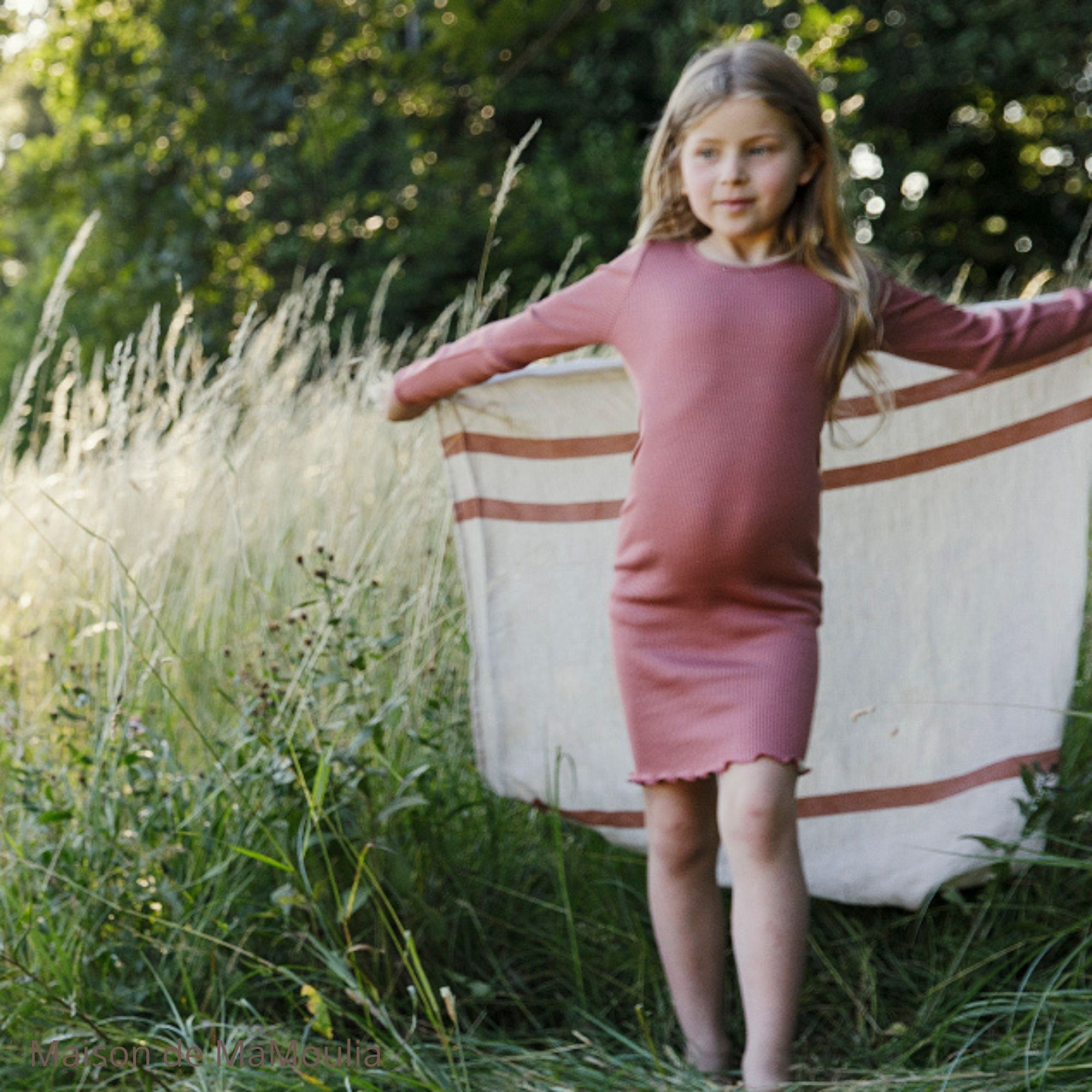 181-5 -Bina 2-6Y - Antique Red - robe-fille-soie-coton-maison-de- mamoulia