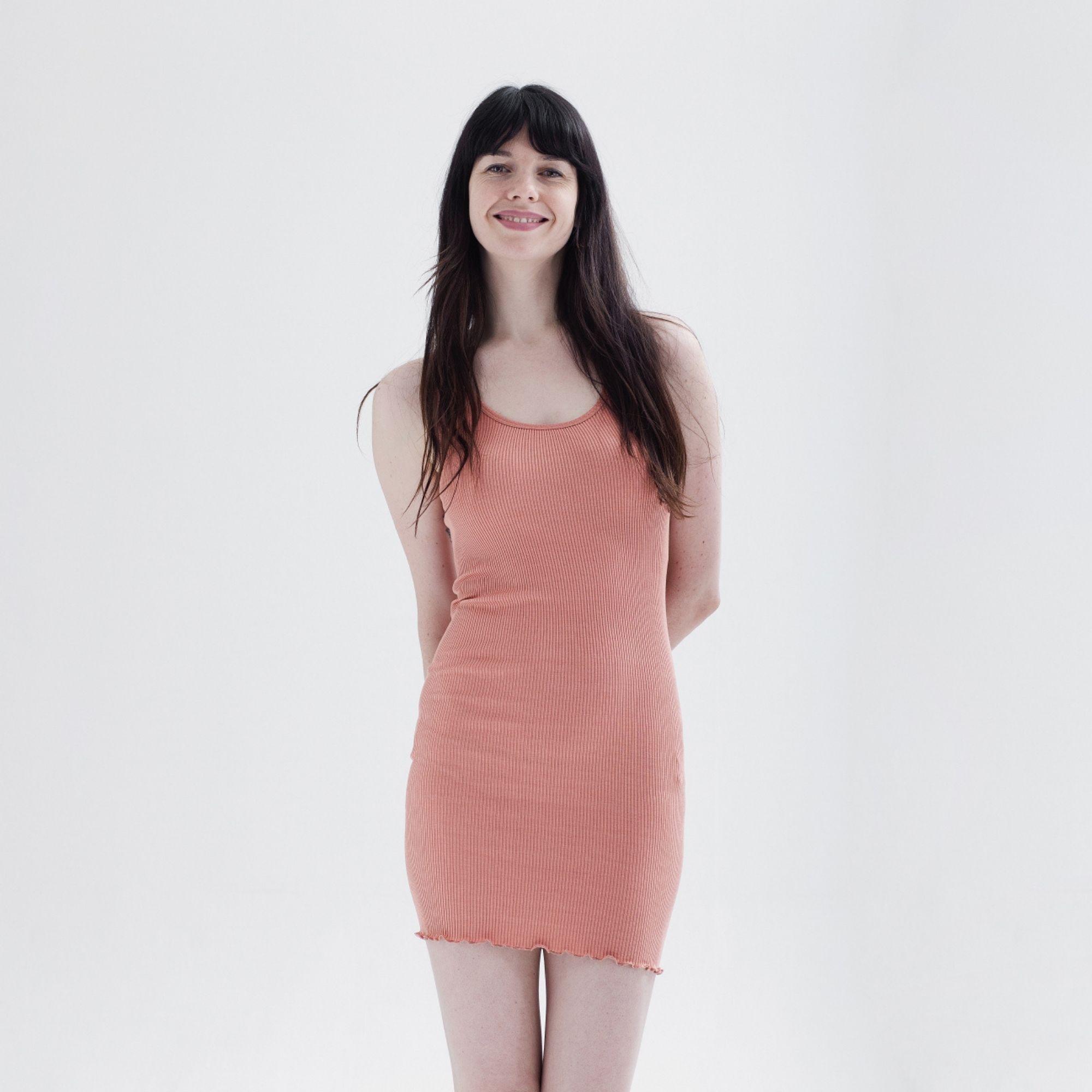 MINIMALISMA - Robe ou débardeur femme - Soie 70% / coton 30% - Gry - Tan