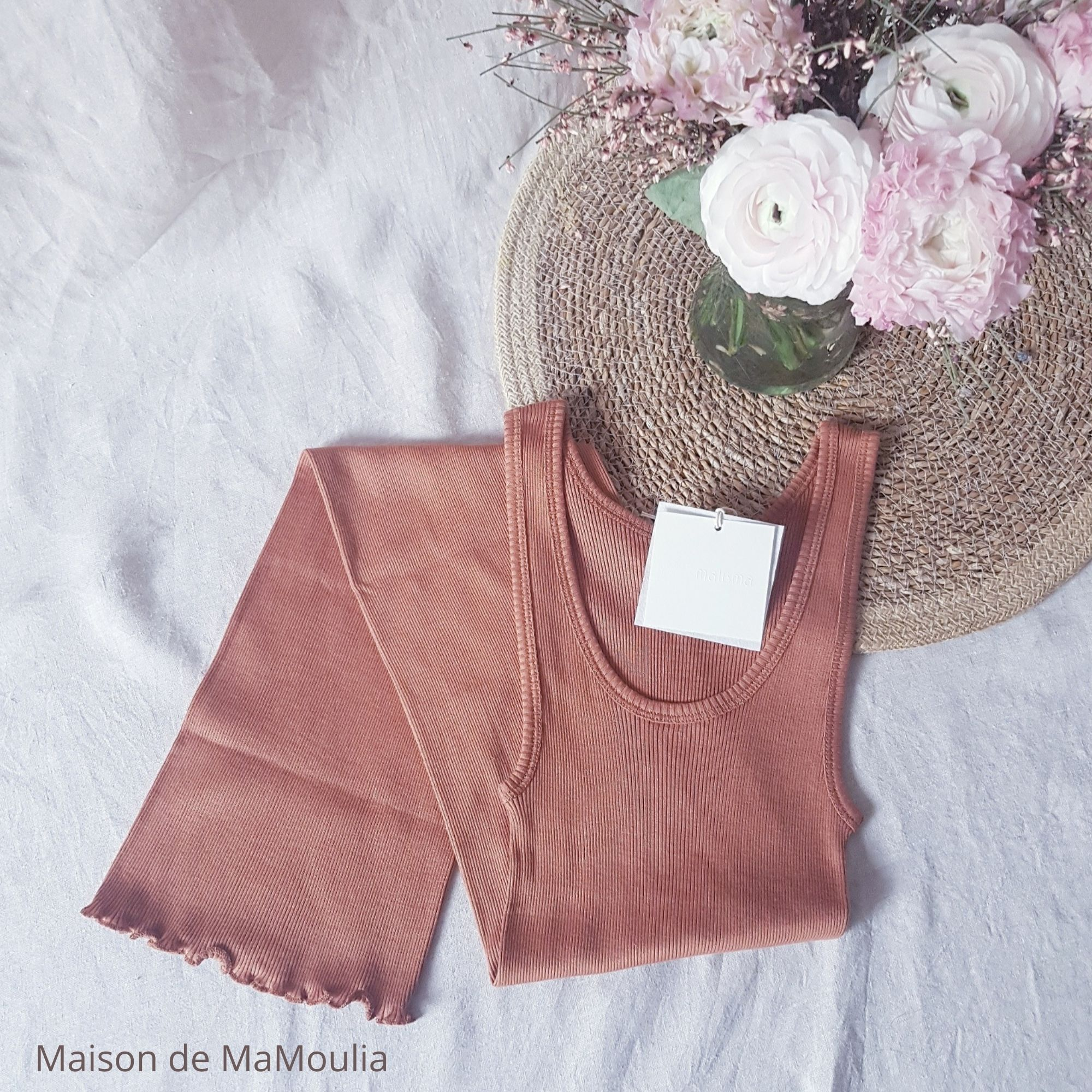 MINIMALISMA - Robe ou débardeur pour femme - Soie 70% / coton 30% - Gry - Rooibos