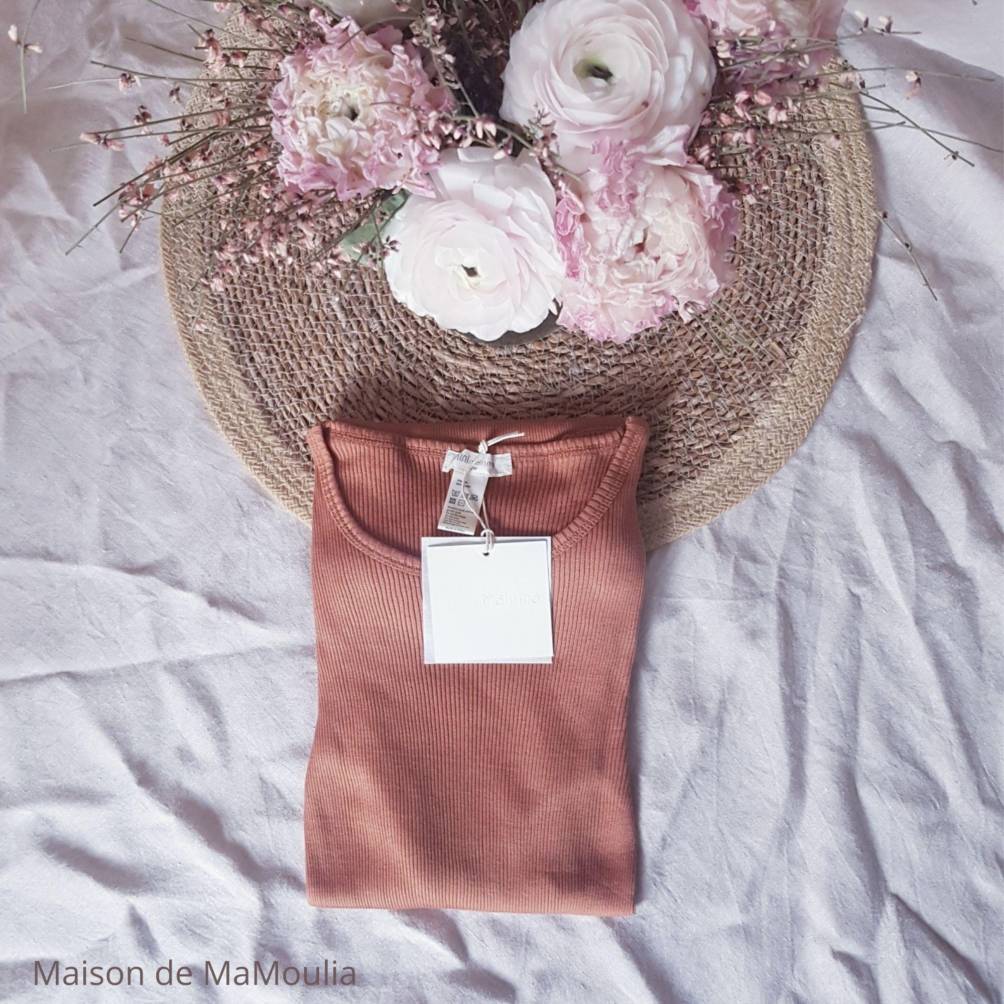 MINIMALISMA - Top pour femme - manches longues - Soie 70% / coton 30% - Gerda - Rooibos