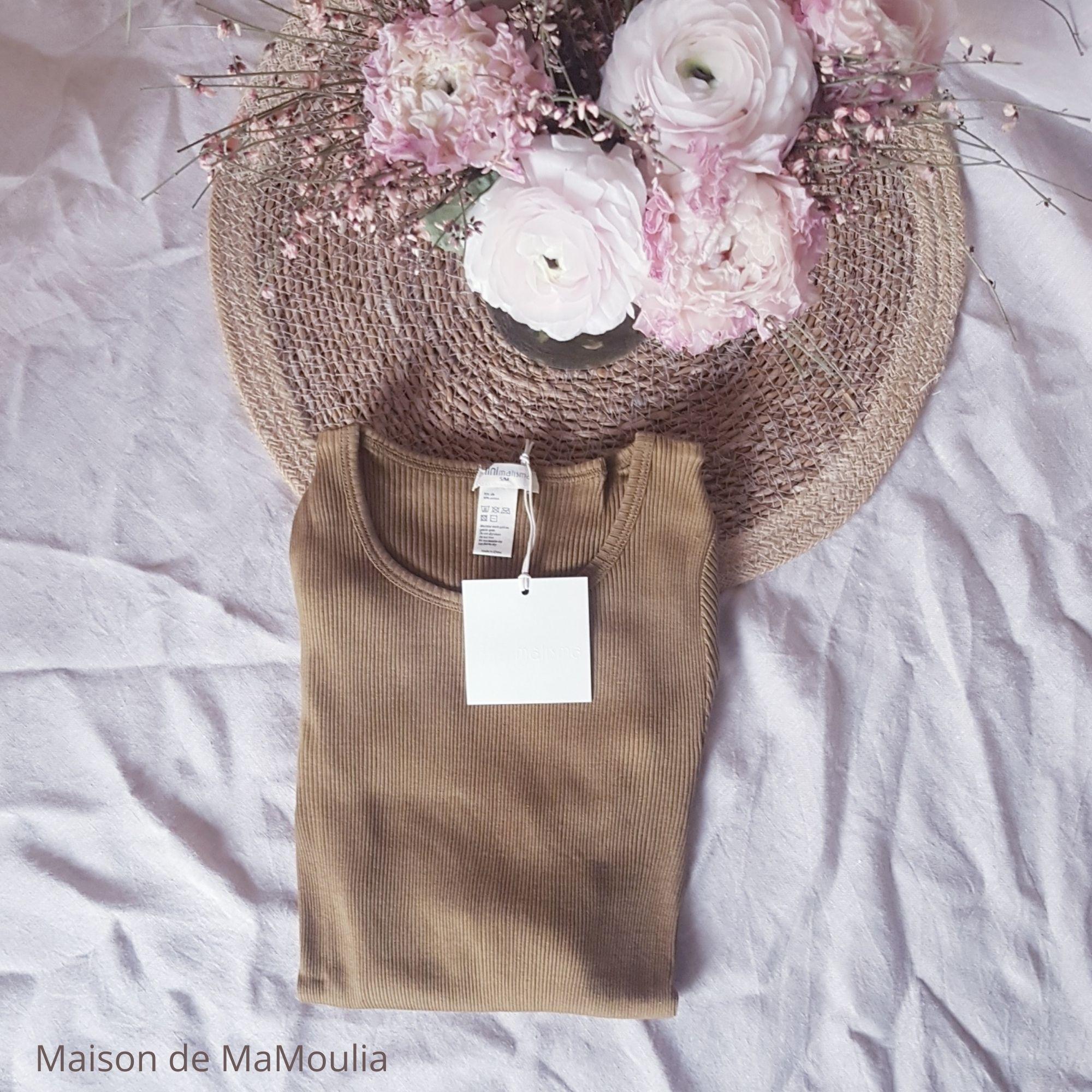 MINIMALISMA - Top pour femme - manches longues - Soie 70% / coton 30% - Gerda - Seaweed