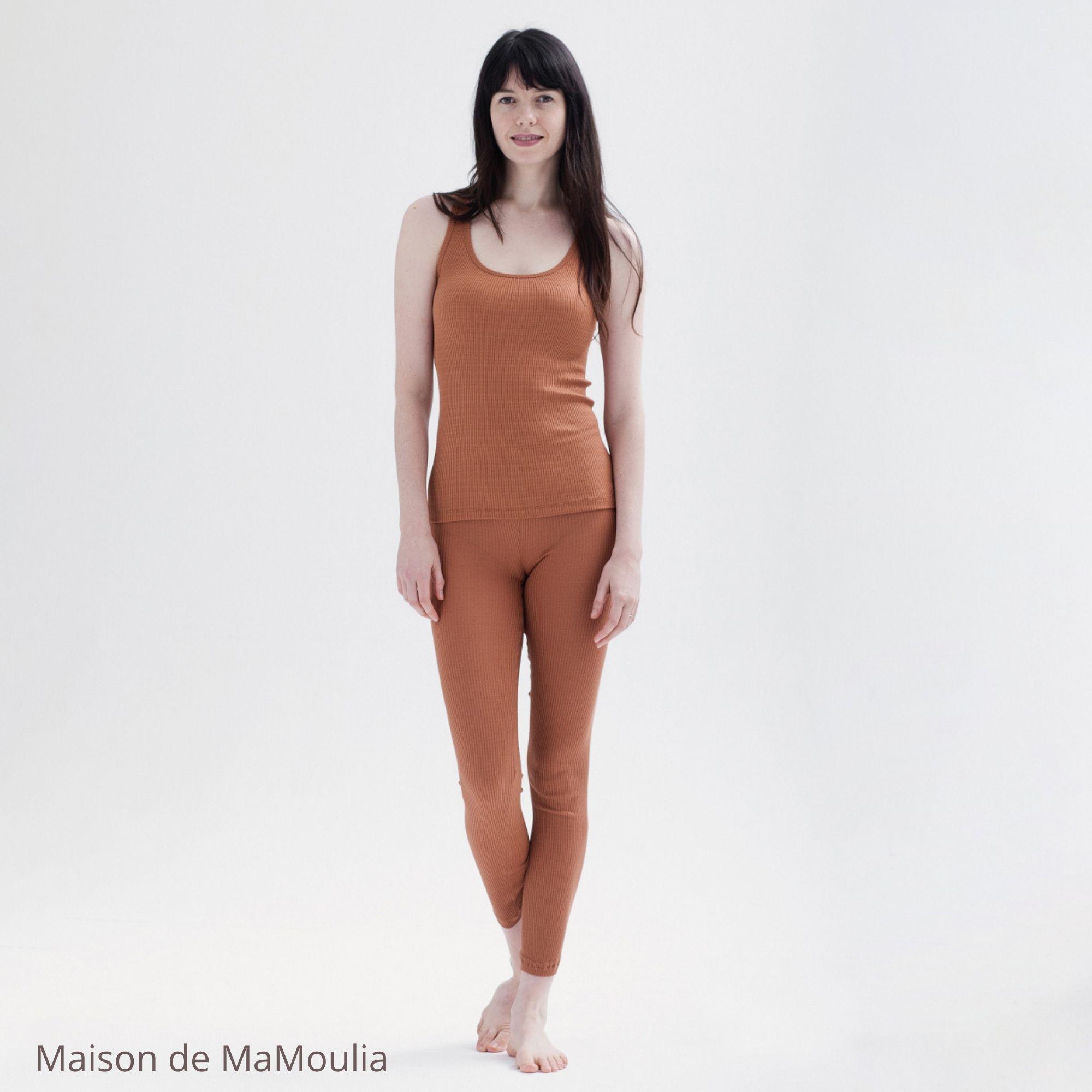 MINIMALISMA - Legging pour femme - Soie 70% / coton 30% - Great - Rooibos
