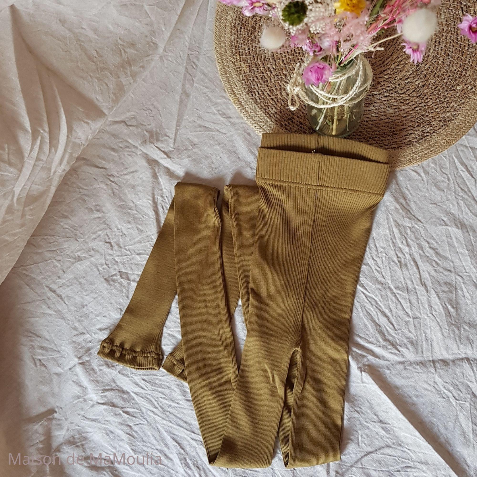 MINIMALISMA - Legging pour femme - Soie 70% / coton 30% - Great - Seaweed