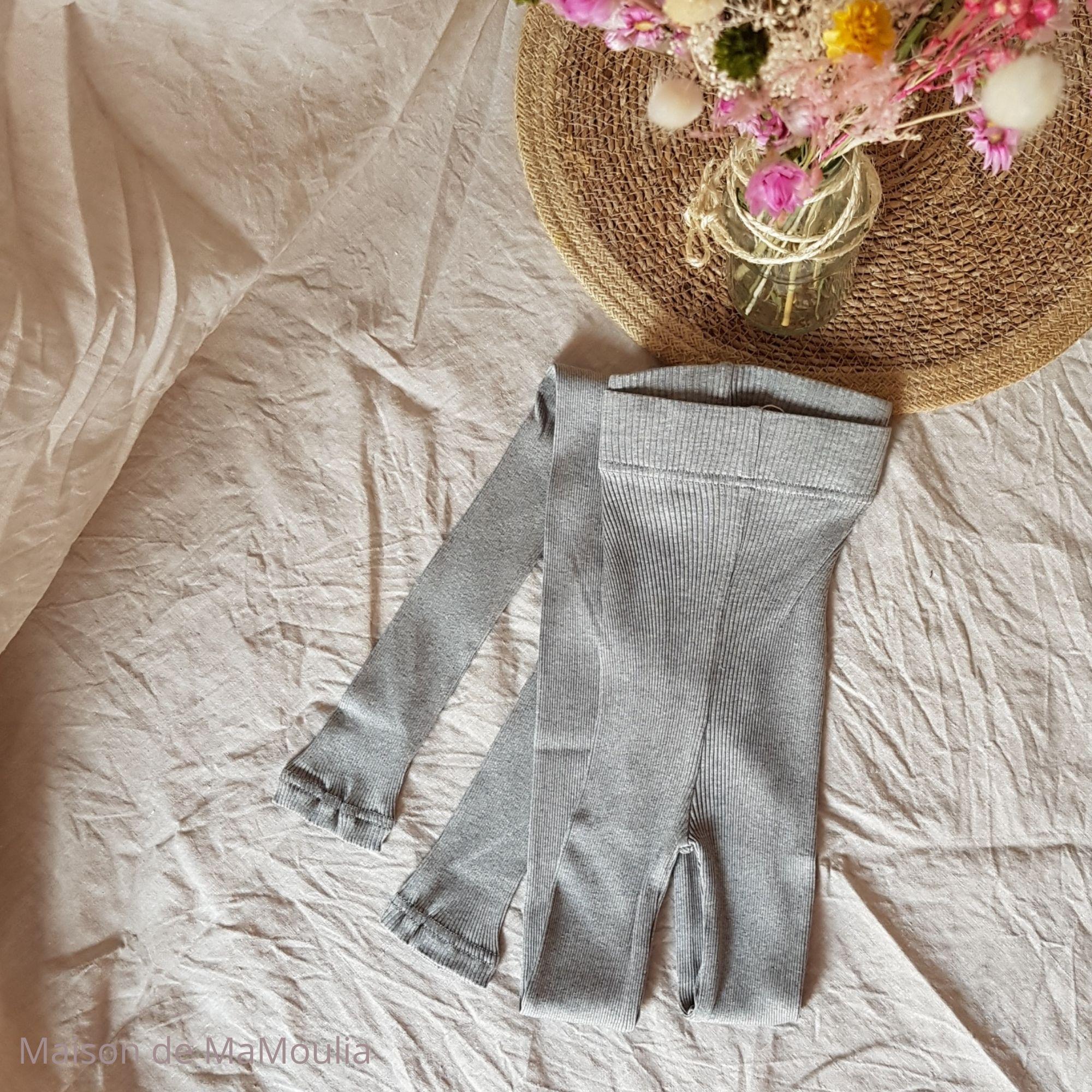 MINIMALISMA - Legging pour femme - Soie 70% / coton 30% - Great - Gris mélangé