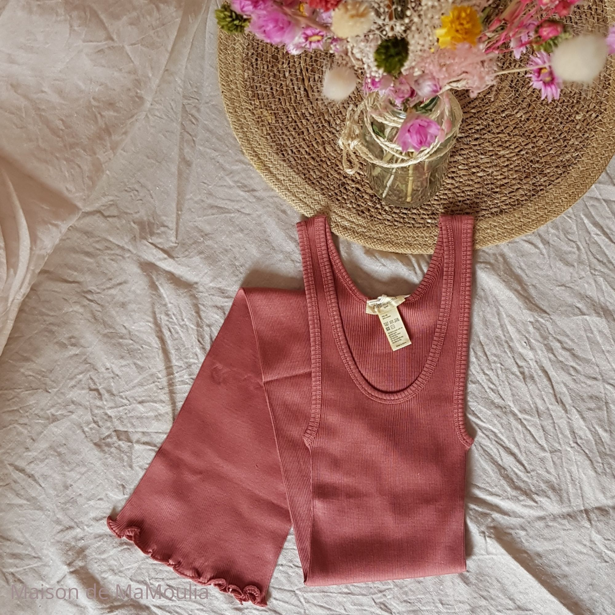 MINIMALISMA - Robe ou débardeur pour femme - Soie 70% / coton 30% - Gry - Anthique red
