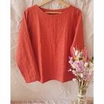 chemise-femme-pur-lin-lave-simplygrey-maison-de-mamoulia-rouge