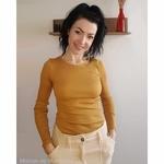 gerda - Golden Leaf- haut-top-femme-manches-longues-soie-coton-maison-de-mamoulia