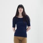 Gym - tshirt-haut-femme-soie-coton-maison-de-mamoulia-bleu-foncé