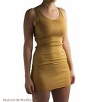 Gry - Golden Leaf-robe-sans-manches-femme-soie-coton-maison-de-mamoulia-minimalisma