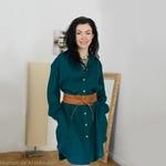 robe-chemise-femme-pur-lin-lave-français-offon-maison-de-mamoulia-turquoise-foncé-ceinture