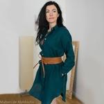 robe-chemise-femme-pur-lin-lave-français-offon-maison-de-mamoulia-turquoise-foncé-dark